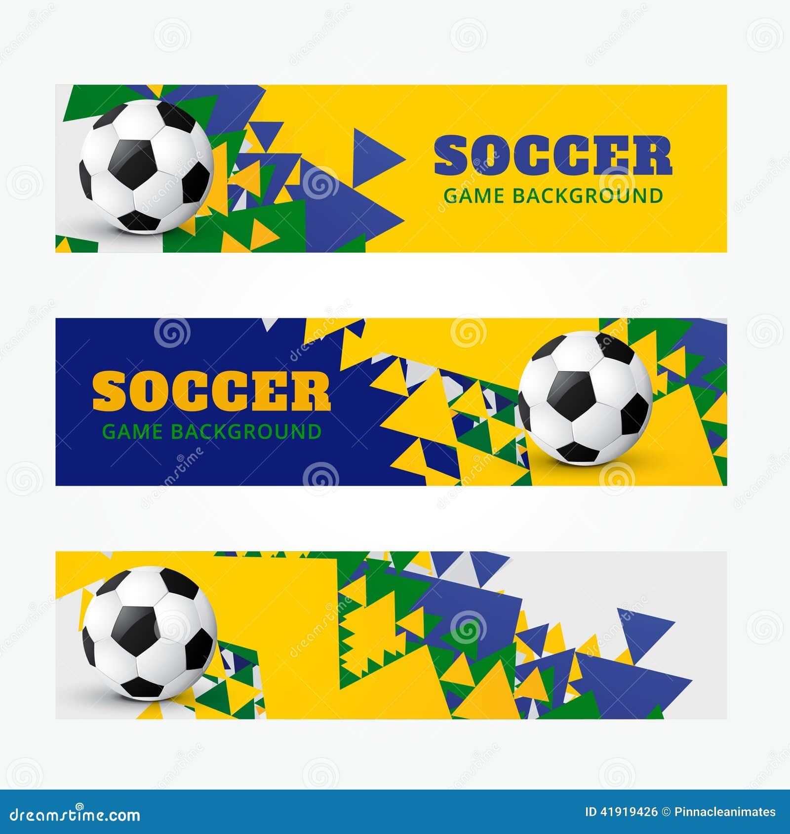 Banderas del fútbol fijadas