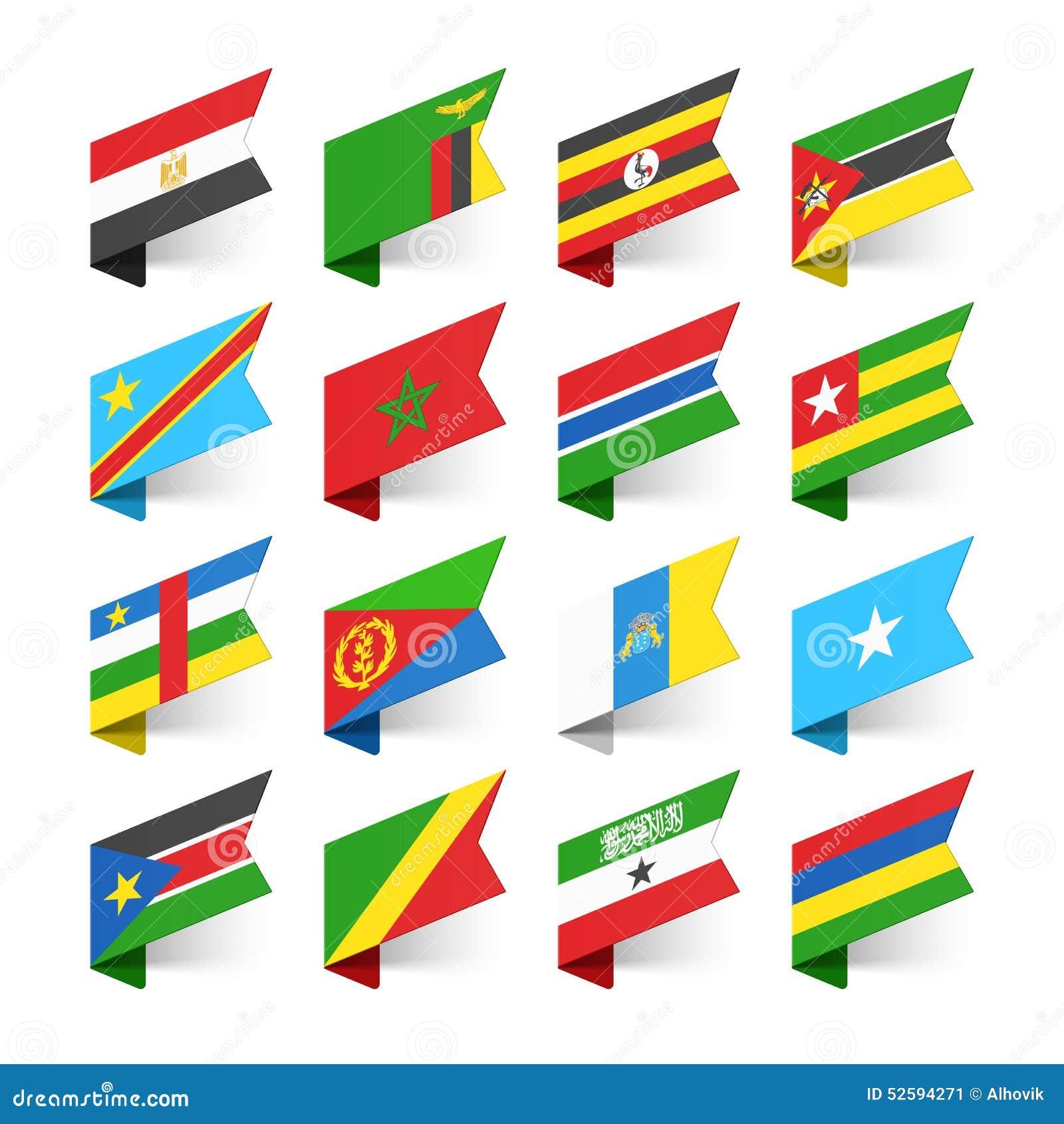 Banderas del mundo, África