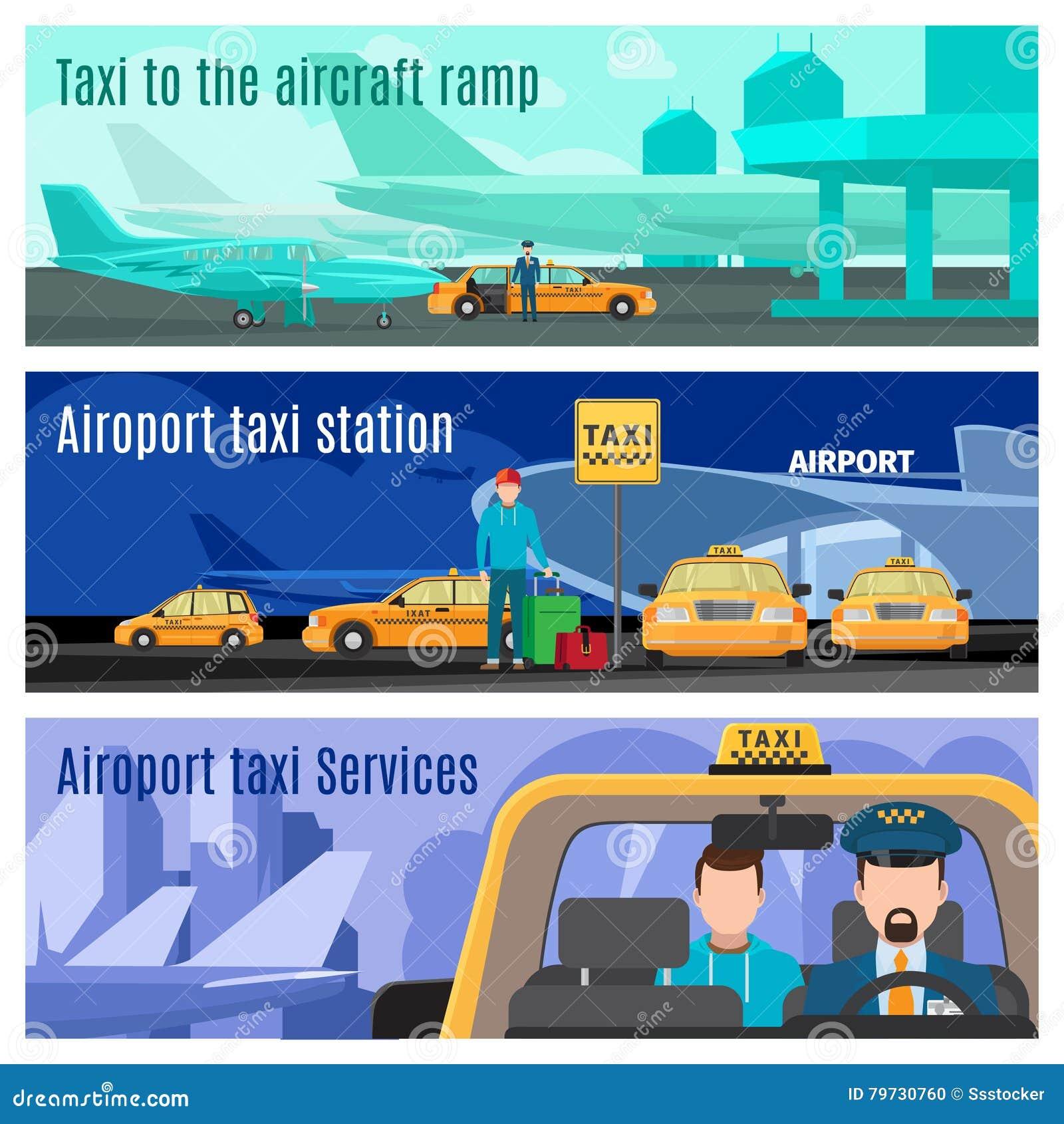 Banderas del servicio del taxi