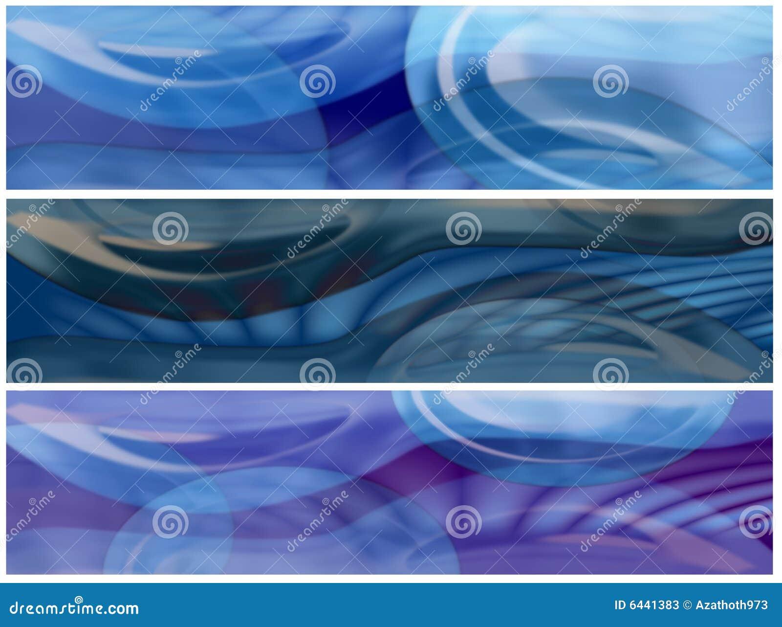 Banderas del vidrio y del agua del árbol