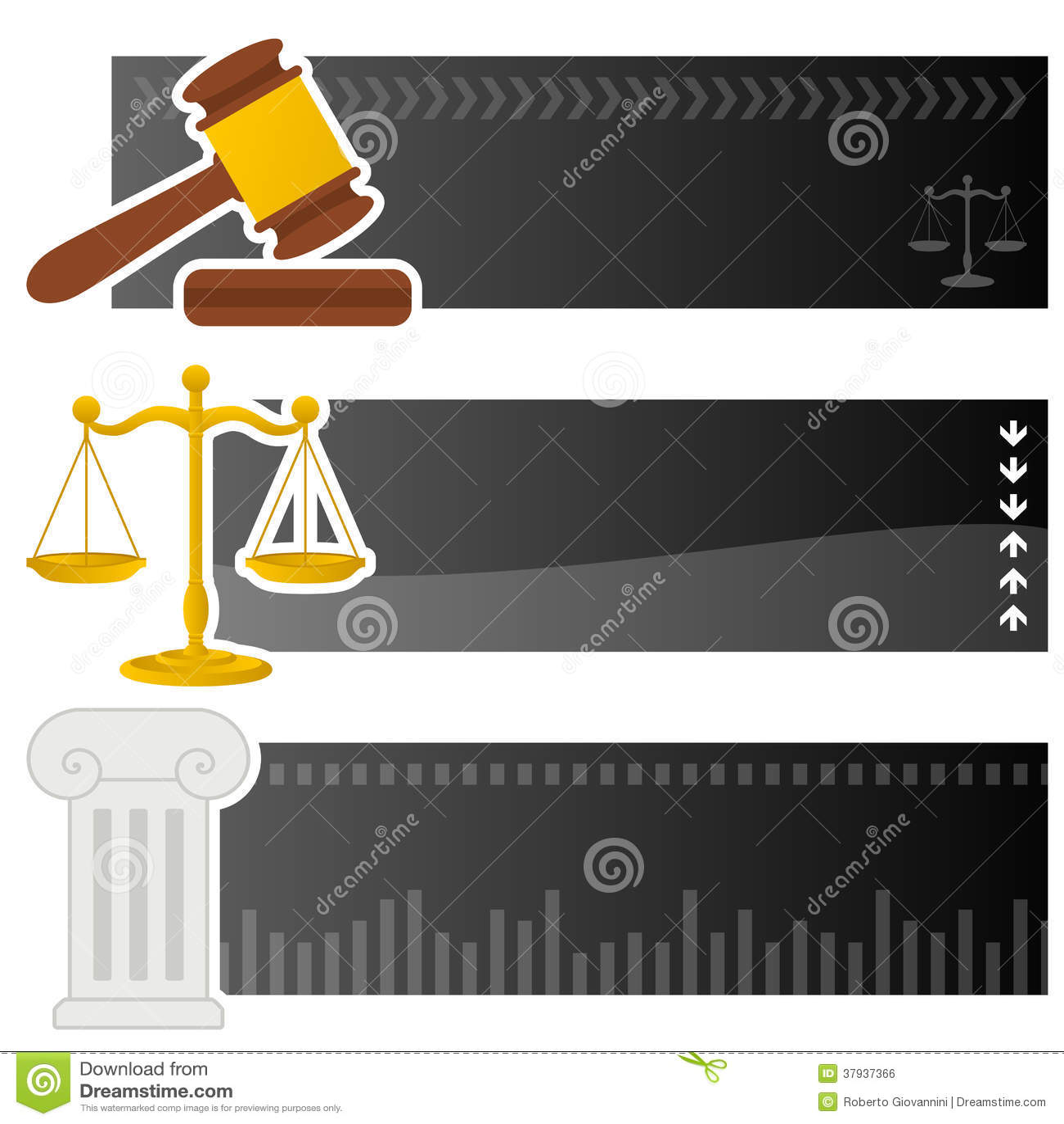 Banderas horizontales de la justicia y de la ley