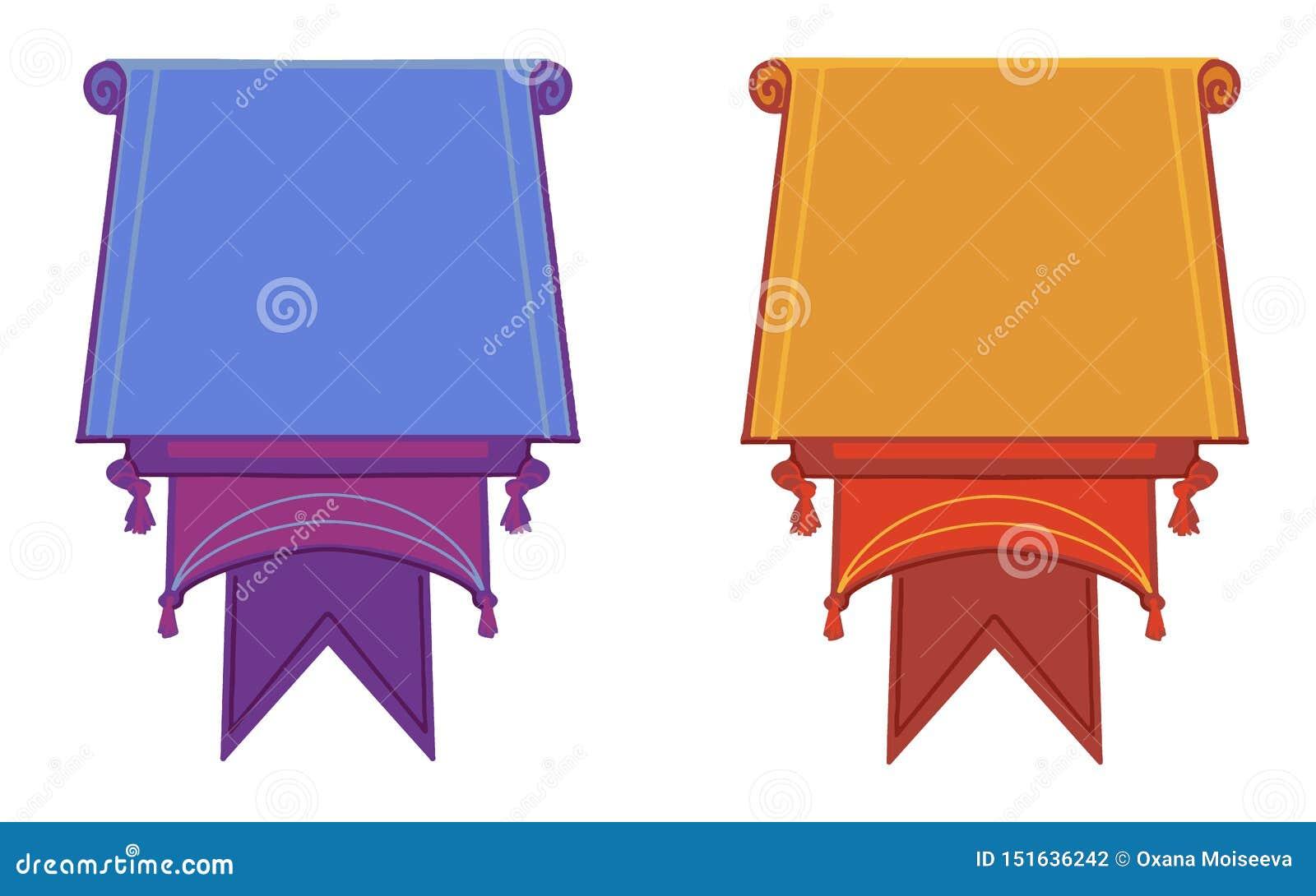 Banderas planas del vector aisladas completamente en el fondo blanco