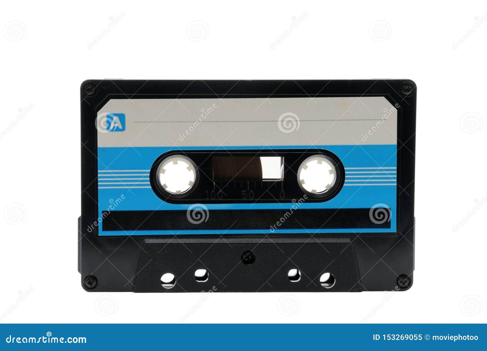 Bandes audio compactes pour l enregistrement magnétique sur un fond blanc Cassette compacte