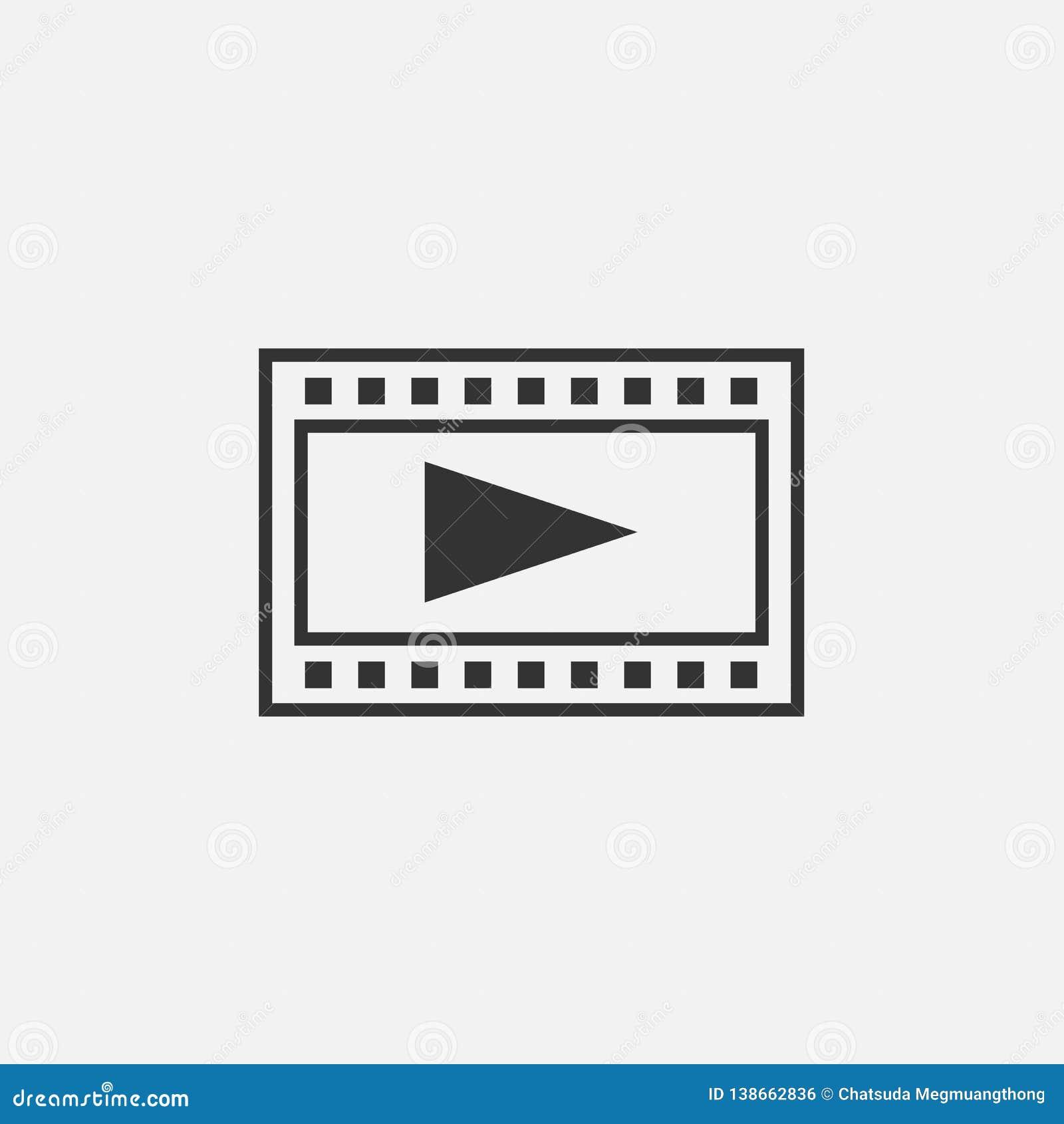 Bandes de film et jouer l icône de bouton
