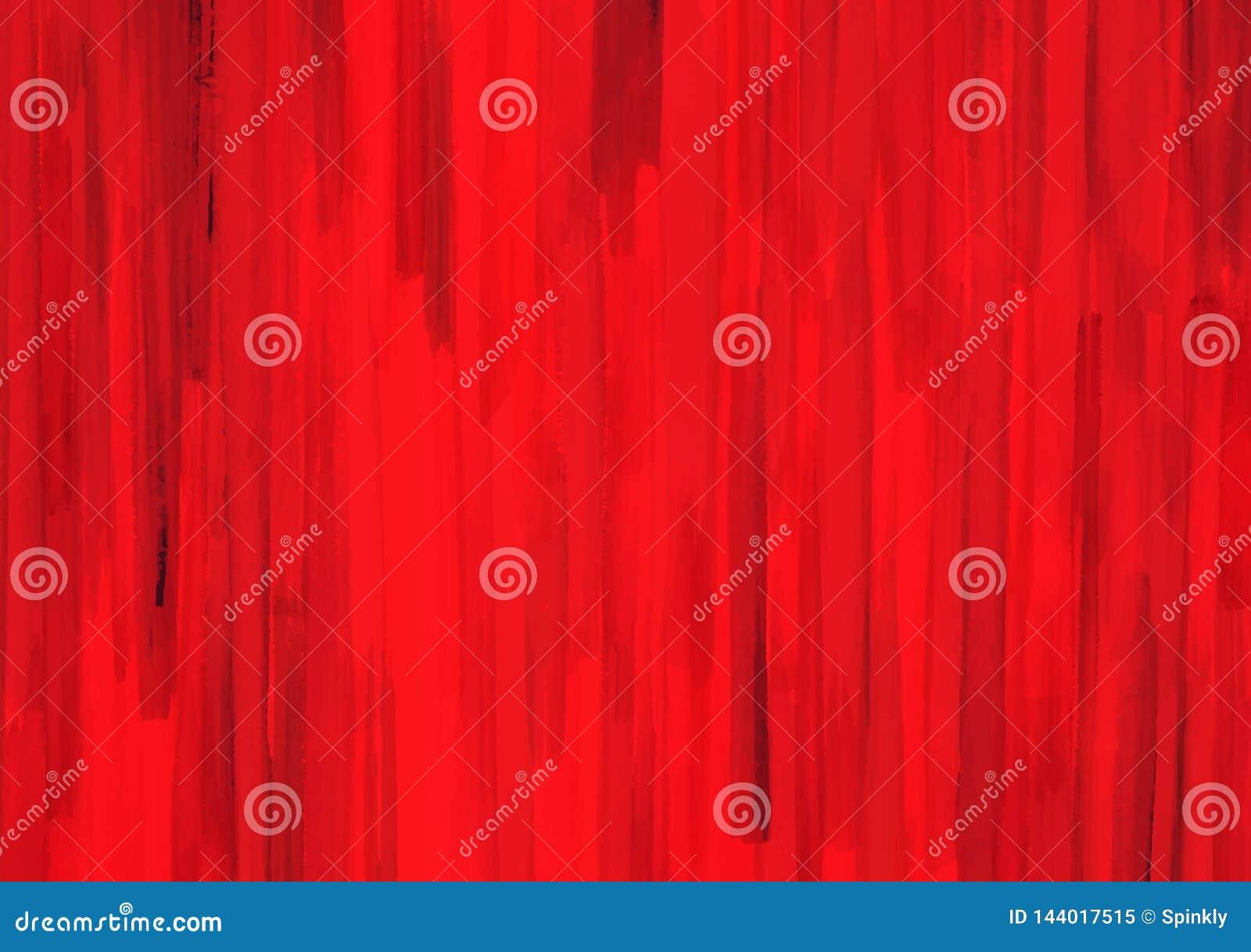 Bandes rouges des courses de brosse