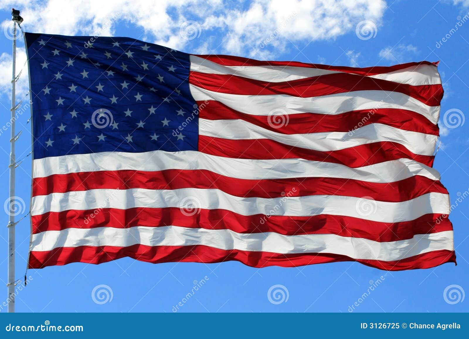 Bandiera americana in azzurro luminoso