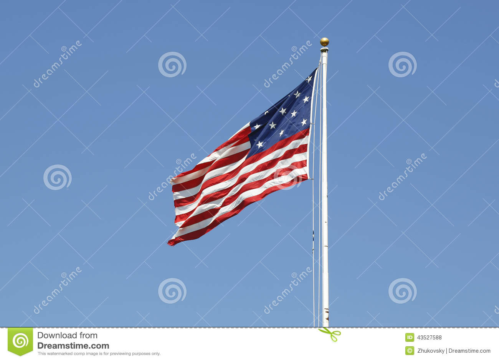 Bandiera americana dell insegna a stelle e strisce della banda 15-star 15