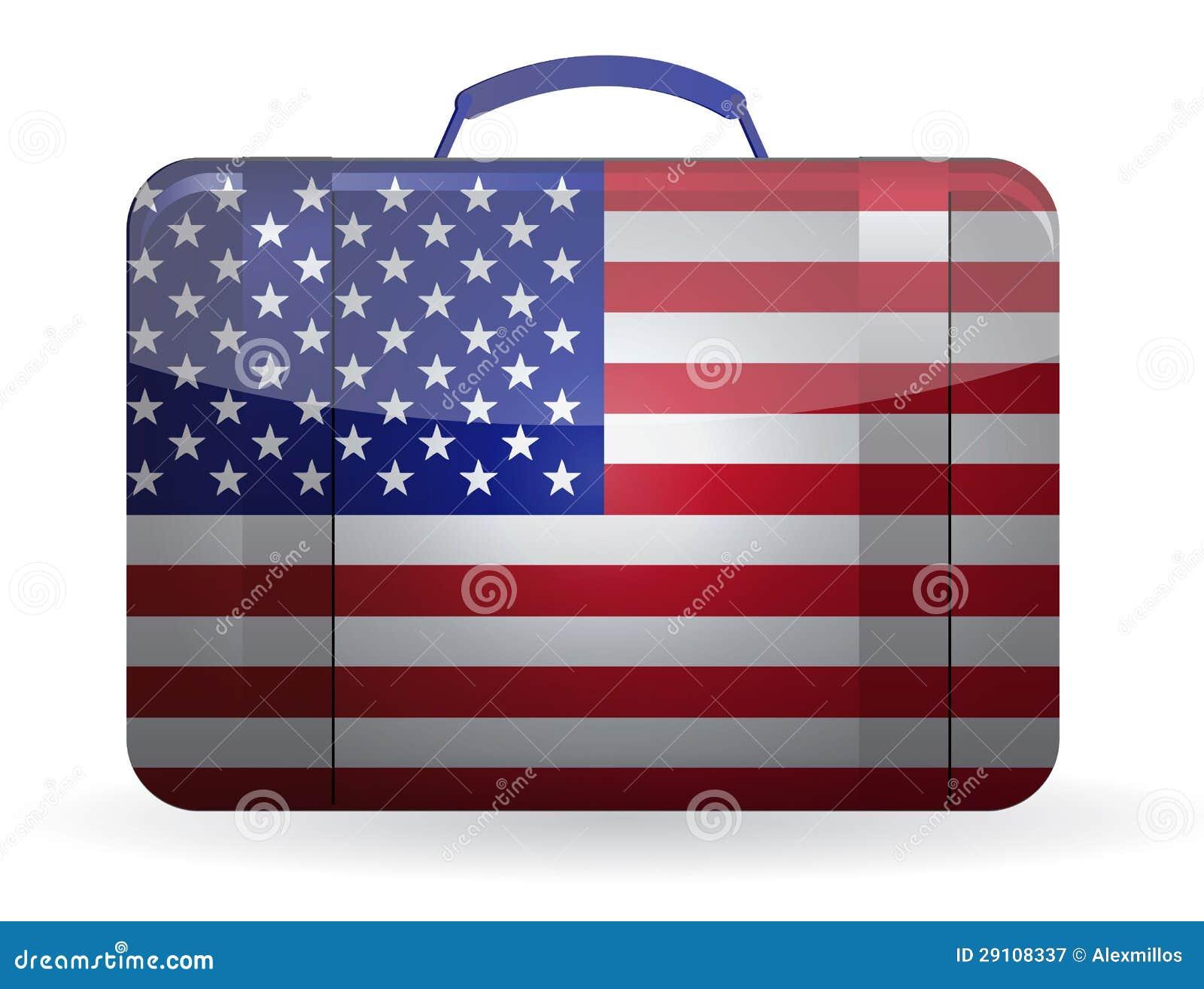 6602d5e2c622b8 Bandiera americana su una valigia per progettazione dell'illustrazione di  viaggio. Più illustrazioni stock simili