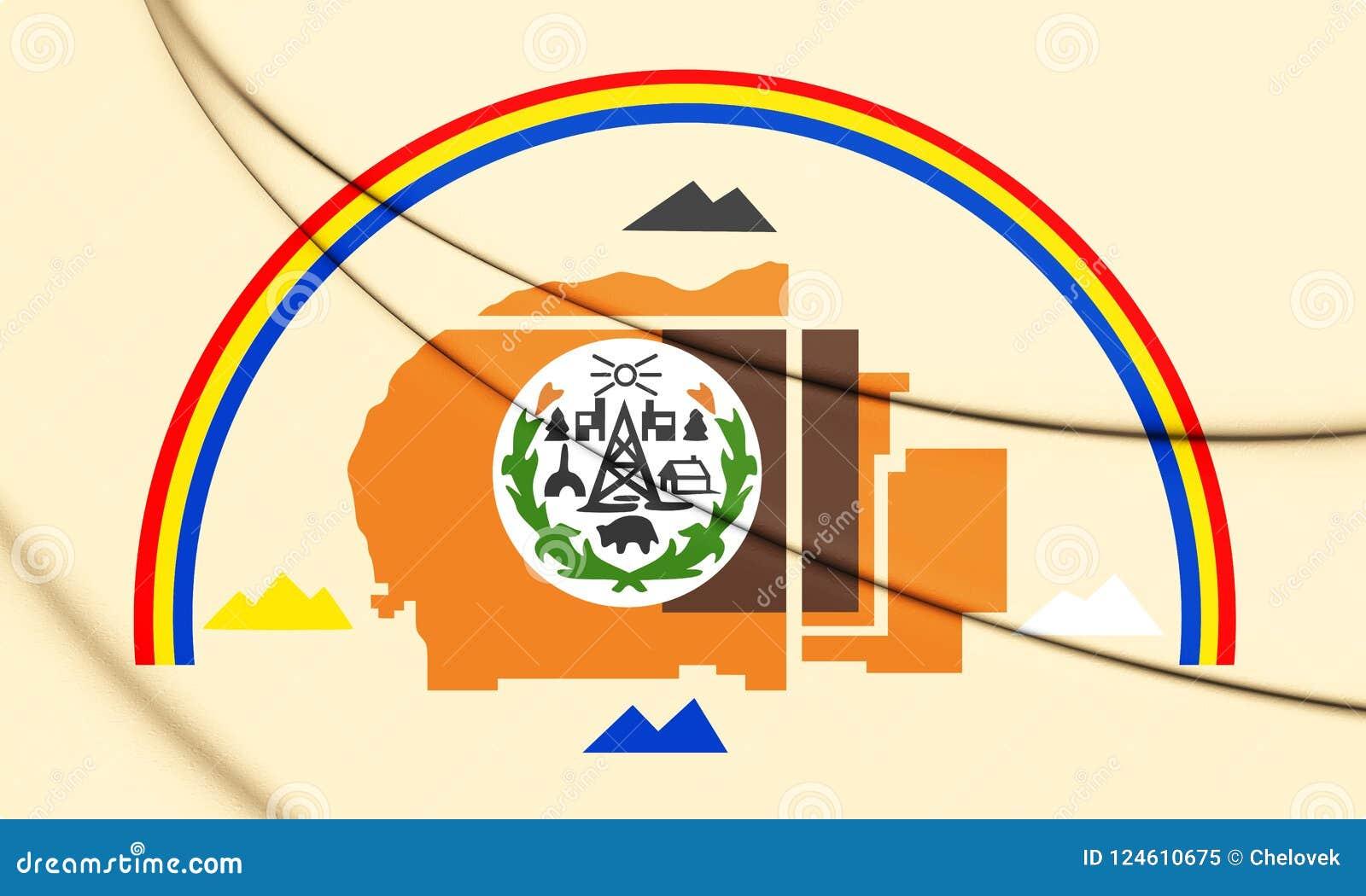 Bandiera 3D della nazione navajo