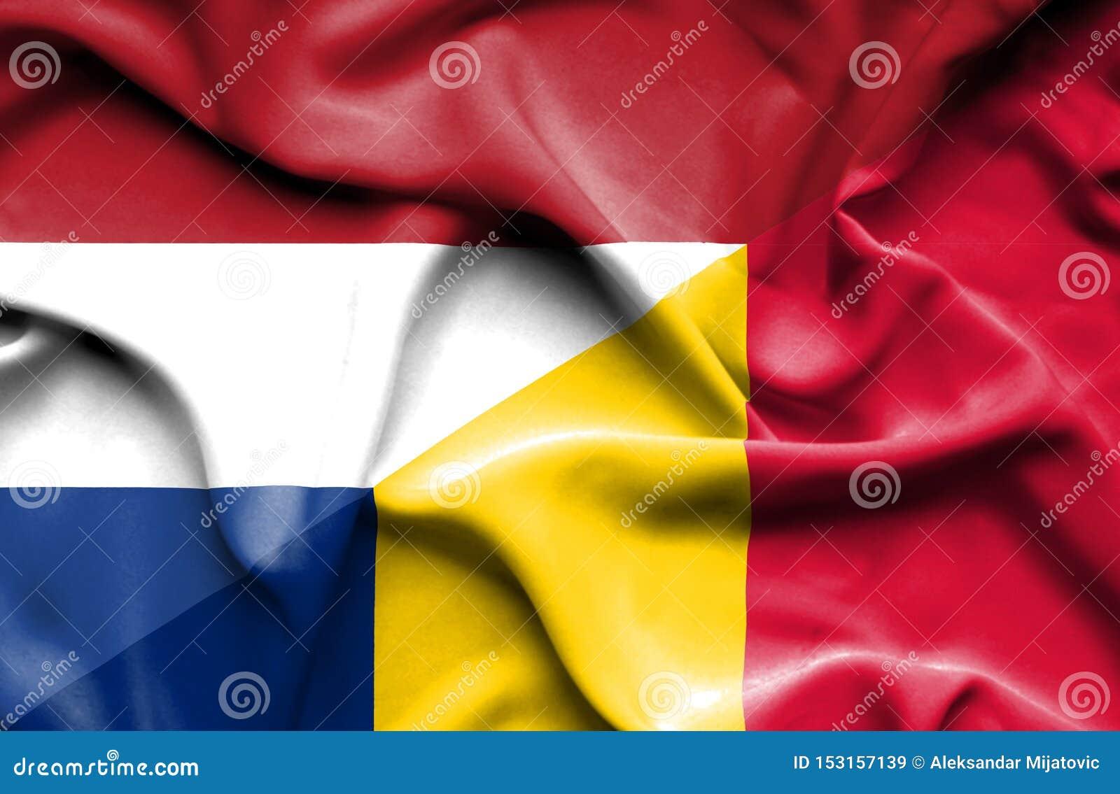 Bandiera d ondeggiamento della Repubblica del Chad e