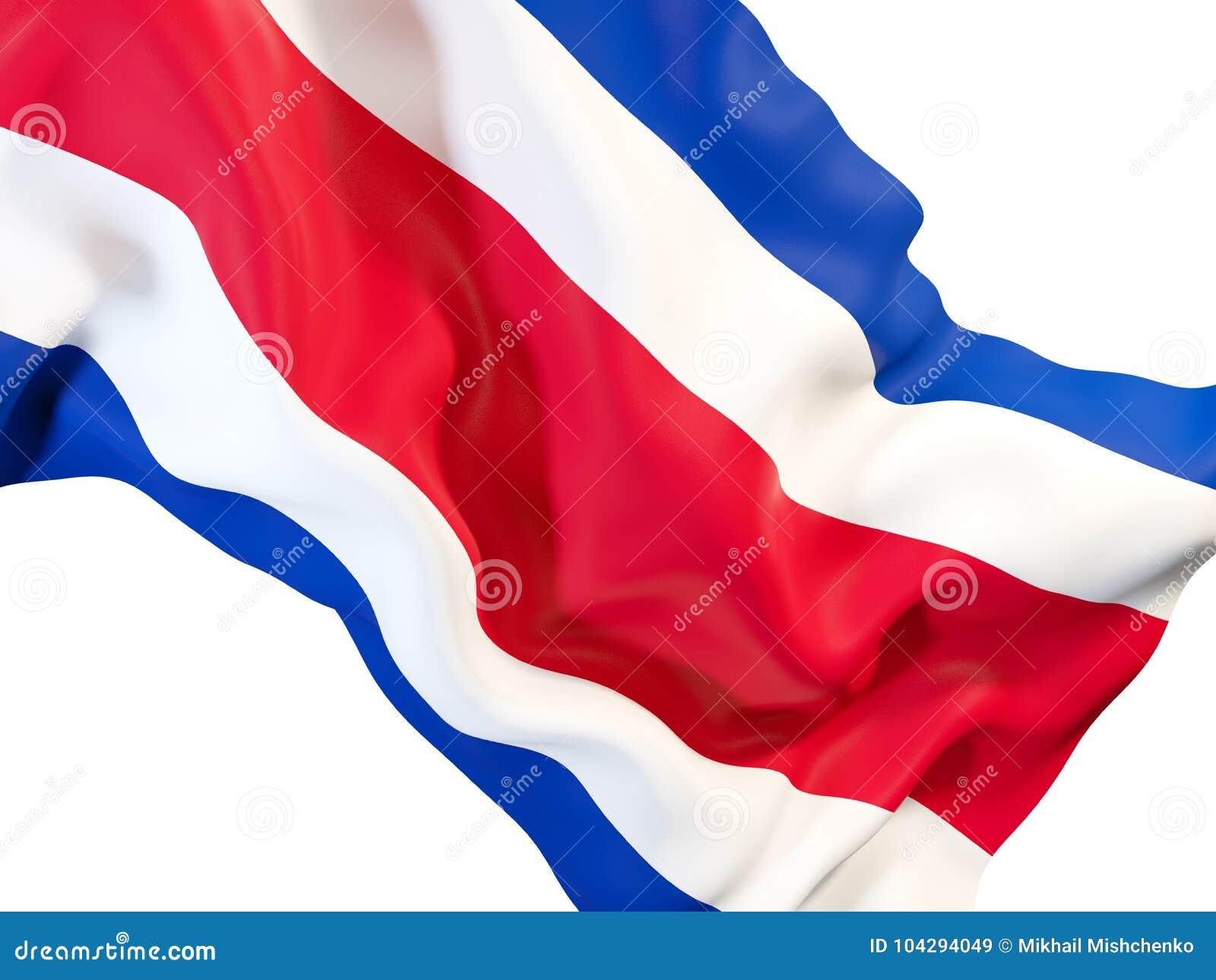 Bandiera d ondeggiamento di Costa Rica