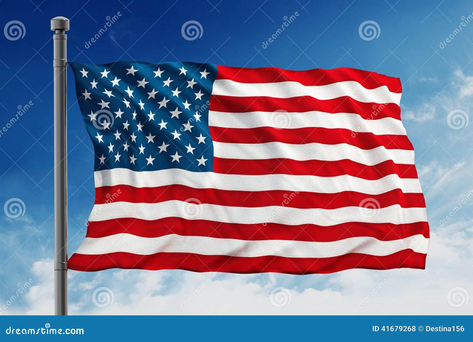 Bandiera Degli Stati Uniti D'America (U.S.A.) Illustrazione di Stock ...