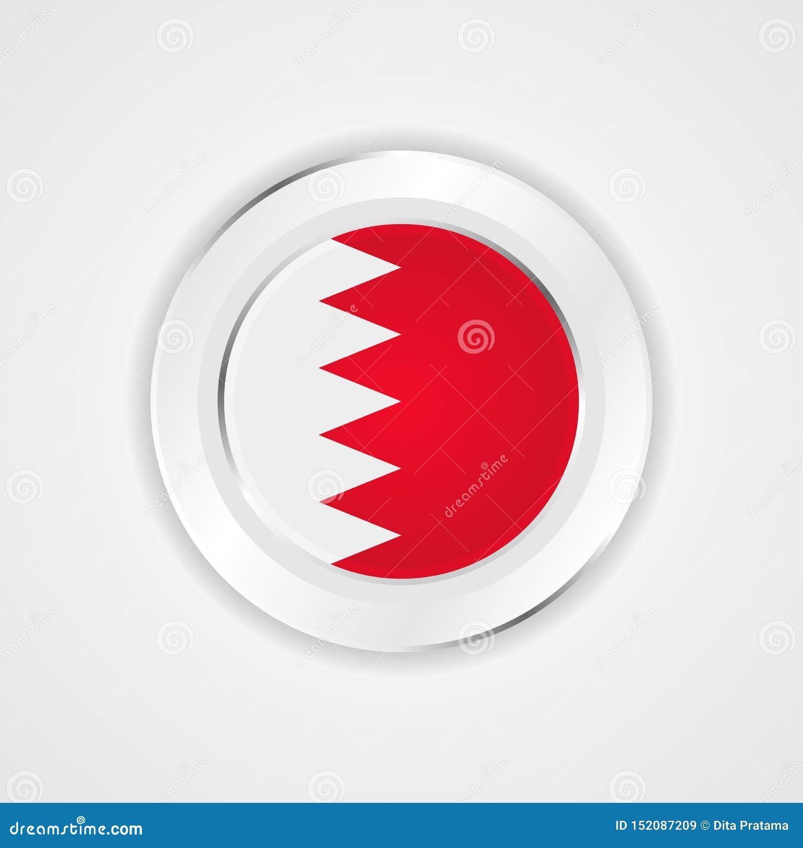 Bandiera del Bahrain nell icona lucida