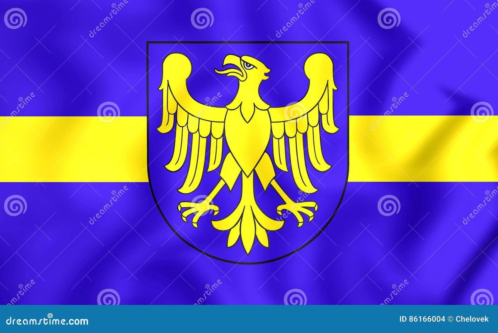 Voivodato Della Slesia Polonia bandiera del voivodato di slesia, polonia illustrazione di