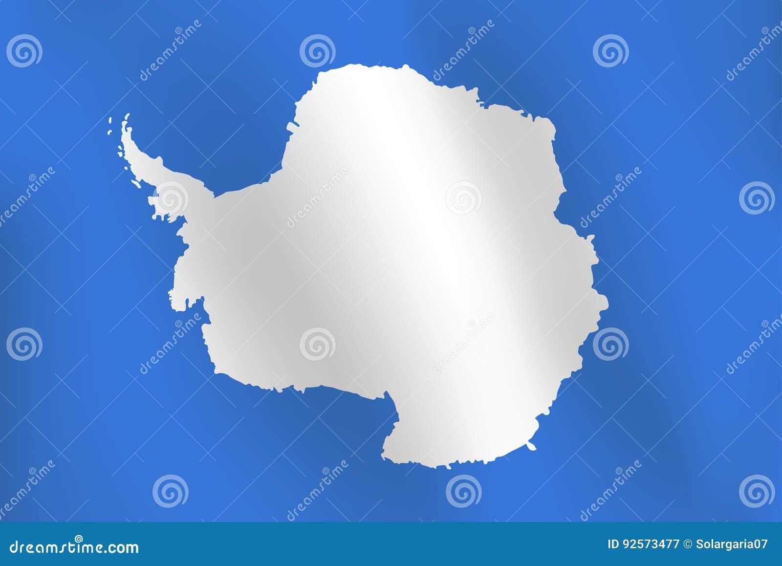 Bandiera dell Antartide - illustrazione di vettore
