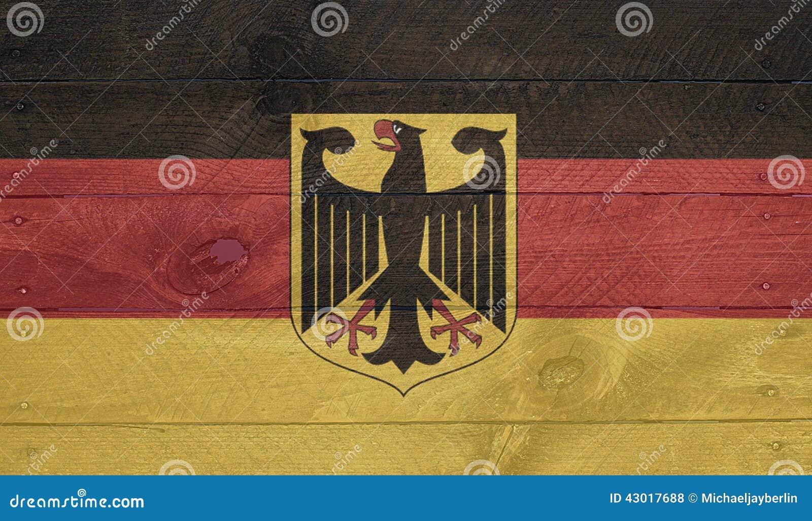 Bandiera della germania sui bordi di legno con i chiodi - Bandiera della pagina di colorazione della germania ...