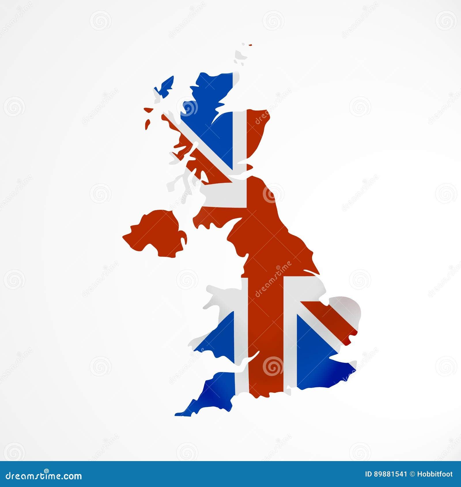 Immagini Della Cartina Della Gran Bretagna.Bandiera Della Gran Bretagna Nella Forma Di Mappa Il Regno Unito Di Gran Bretagna E Irlanda Del Nord Concetto Britannico Della Ba Illustrazione Vettoriale Illustrazione Di Background Bandiera 89881541