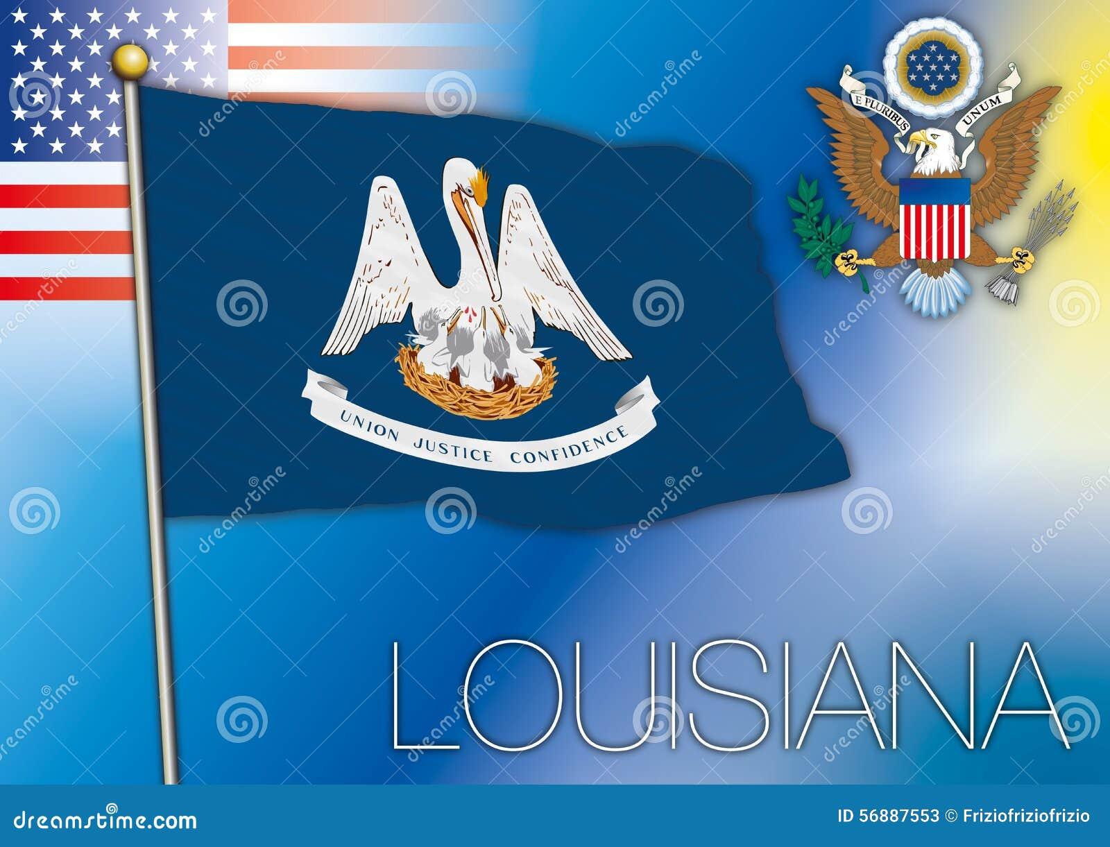 Bandiera della Luisiana, stato USA