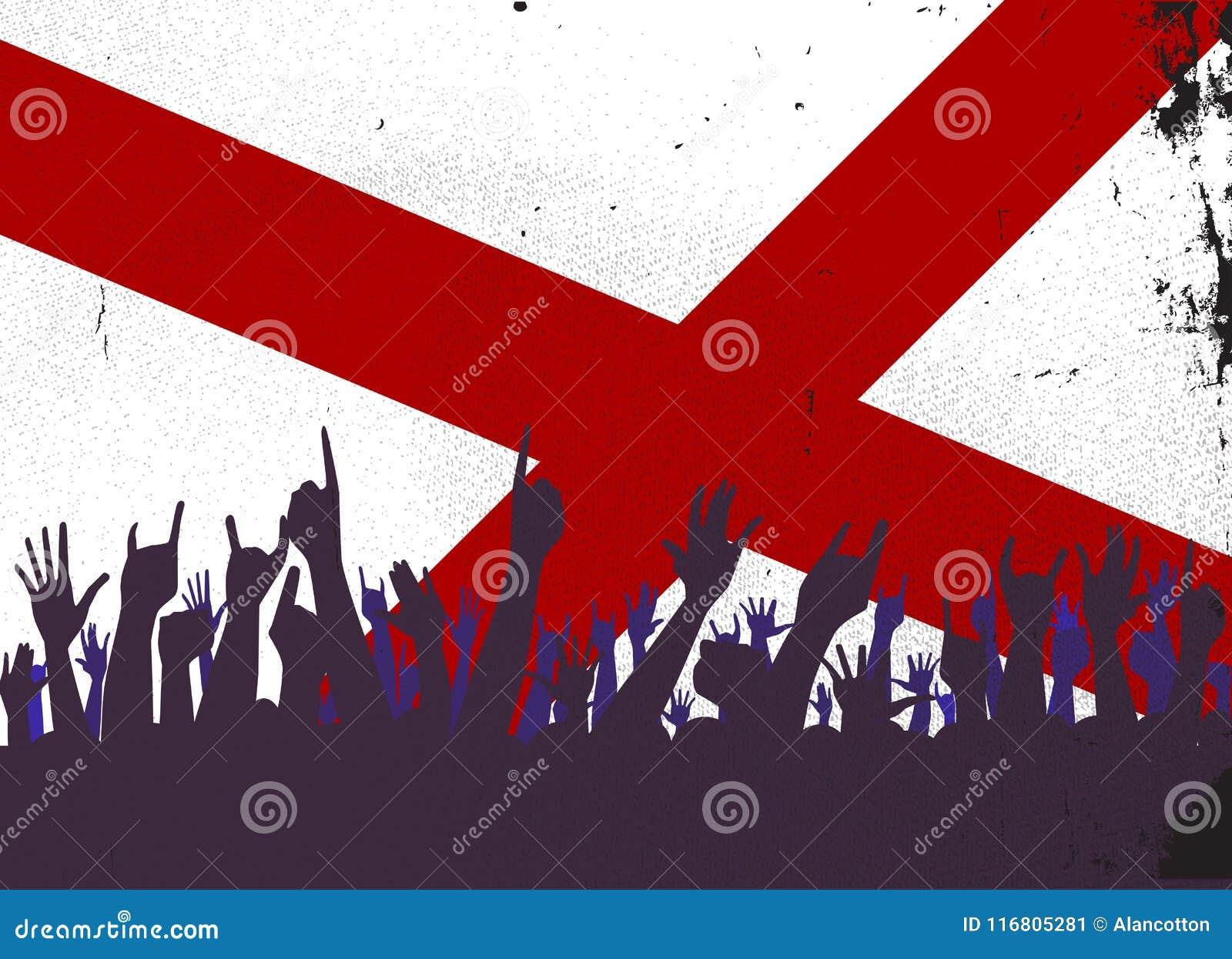 Bandiera dello stato dell Alabama con reazione del pubblico