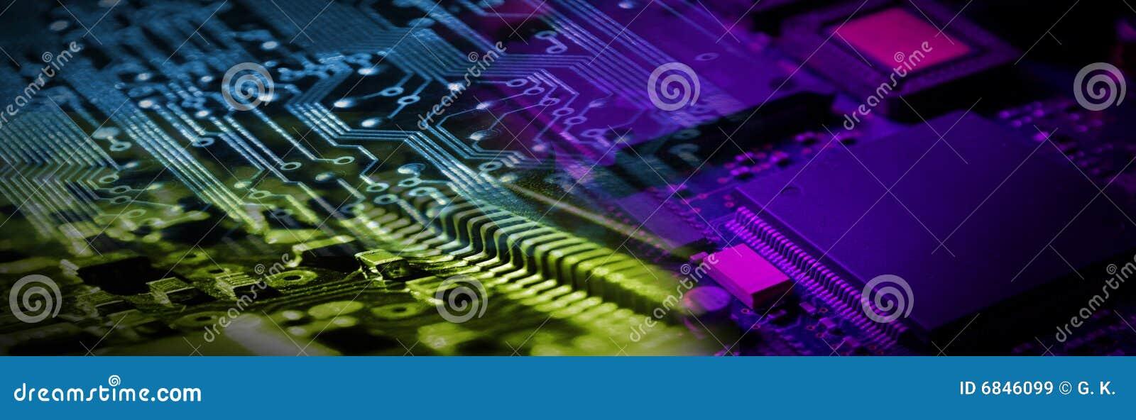 Bandiera di elettronica