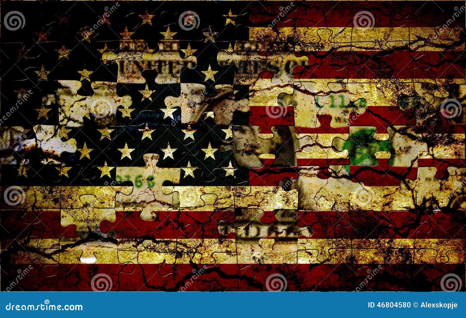 Bandiera di puzzle degli S.U.A.