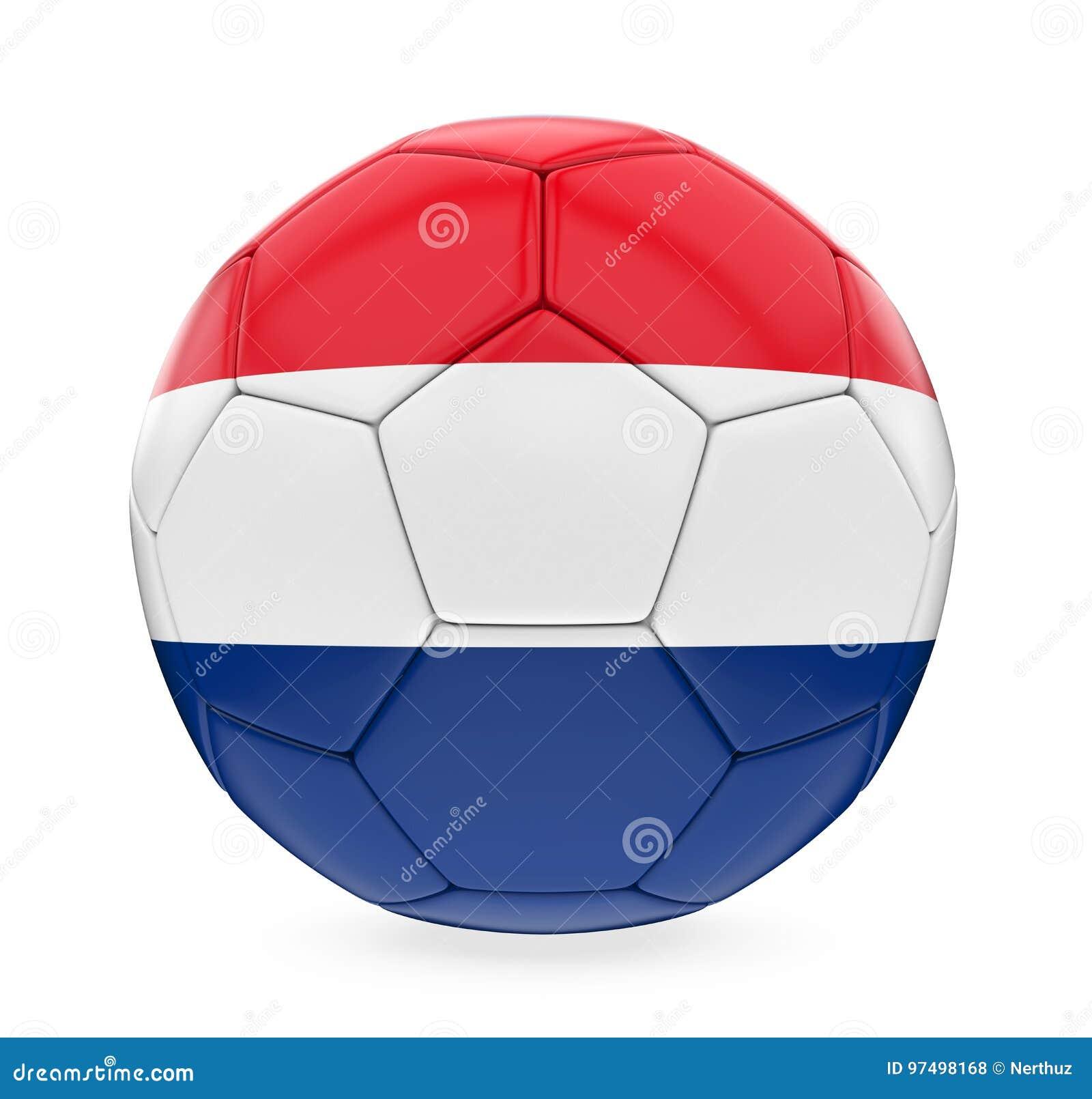 Bandiera olandese del pallone da calcio isolata