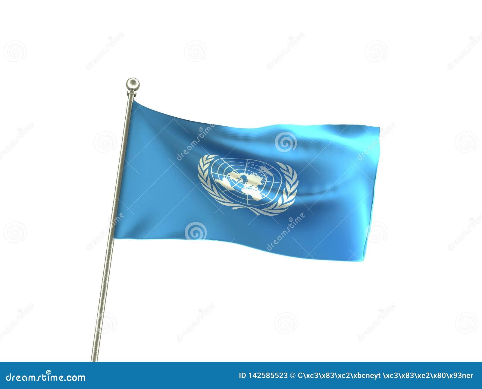 Bandiera ondulata delle nazioni unite di ONU