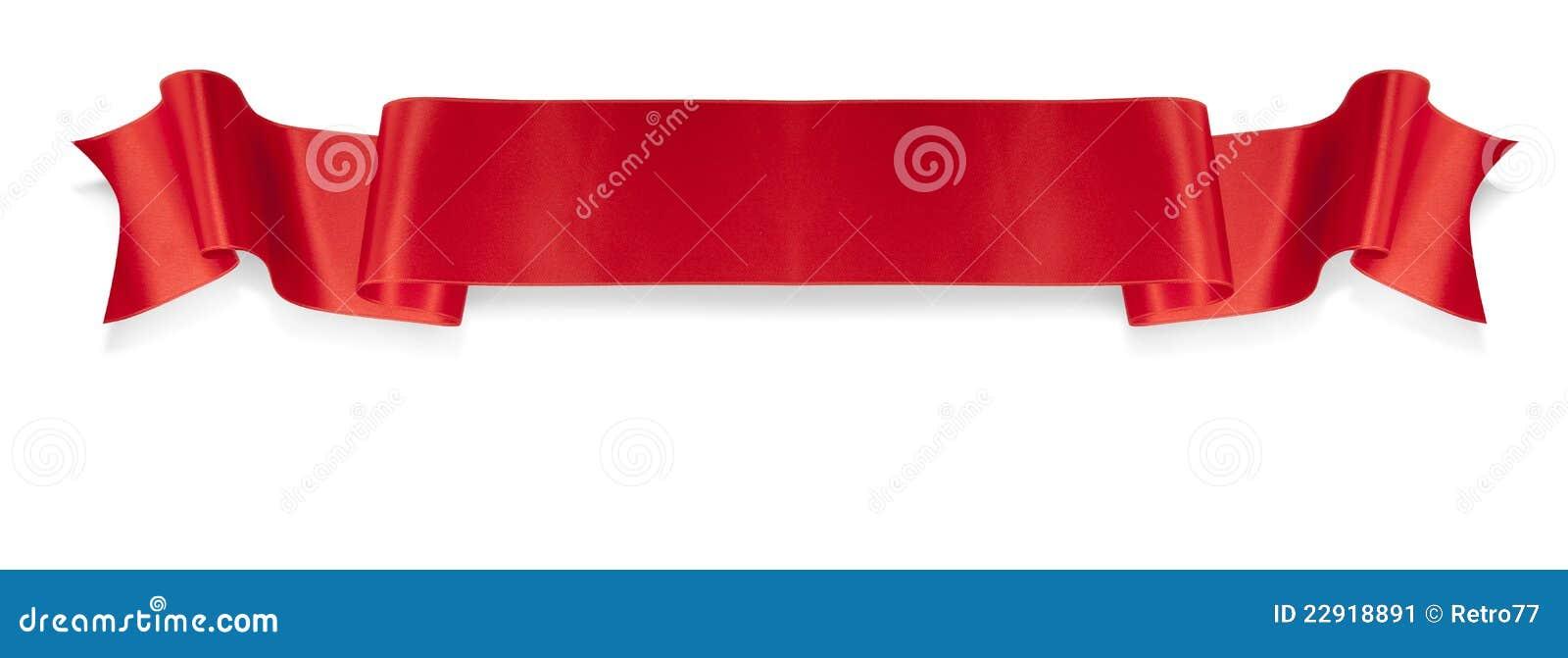 Bandiera rossa del nastro di eleganza