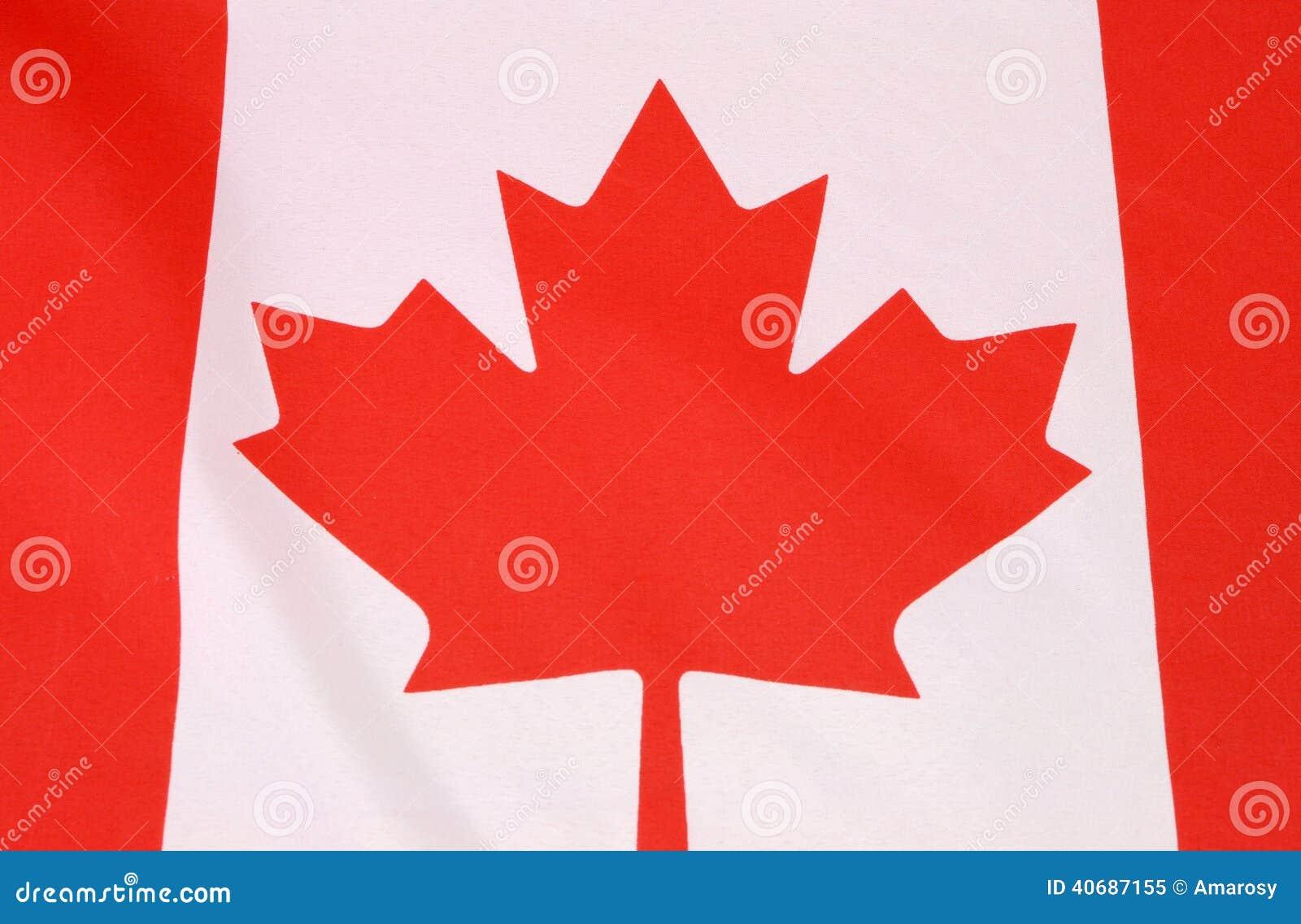 Bandiera rossa e bianca della foglia di acero canadese - Foglia canadese contorno foglia canadese ...