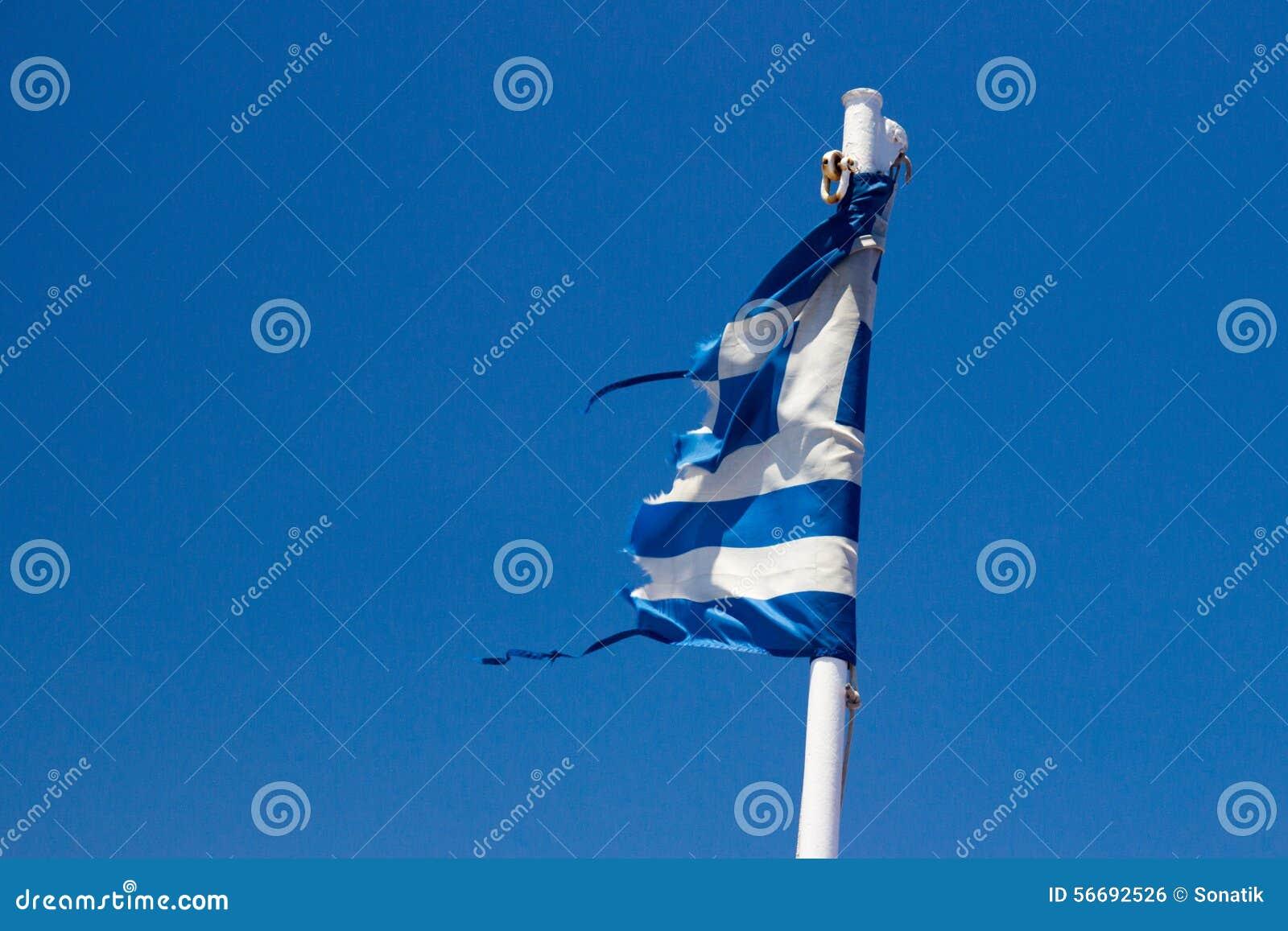 Bandiera stracciata Grecia