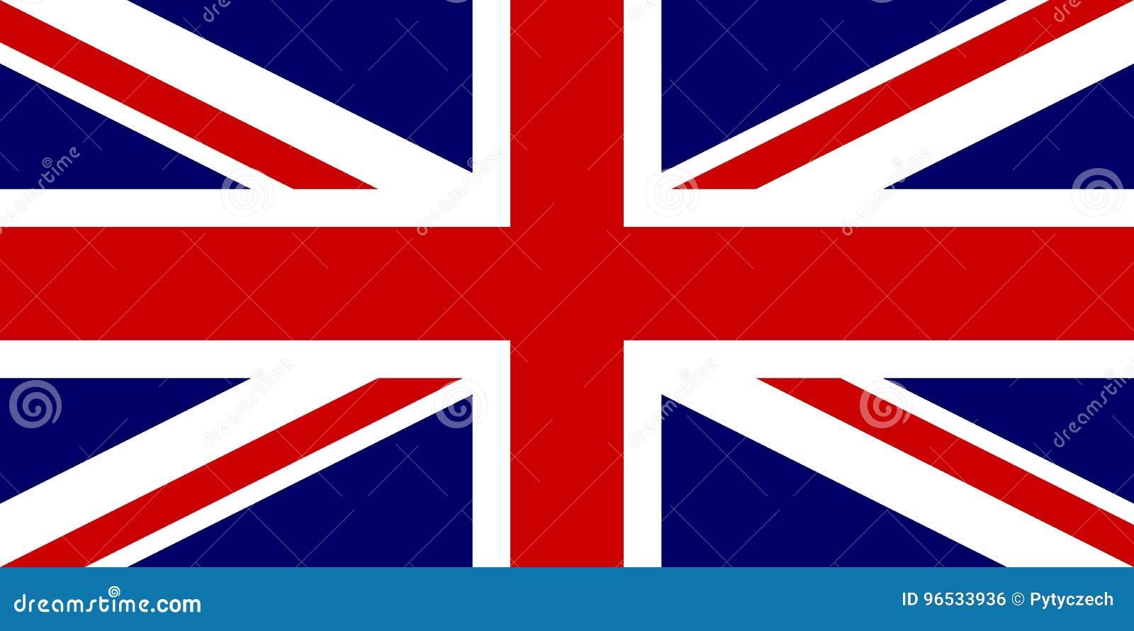 Bandiera ufficiale del Regno Unito di Gran Bretagna e Irlanda del Nord Bandiera BRITANNICA aka Union Jack Illustrazione di vettor
