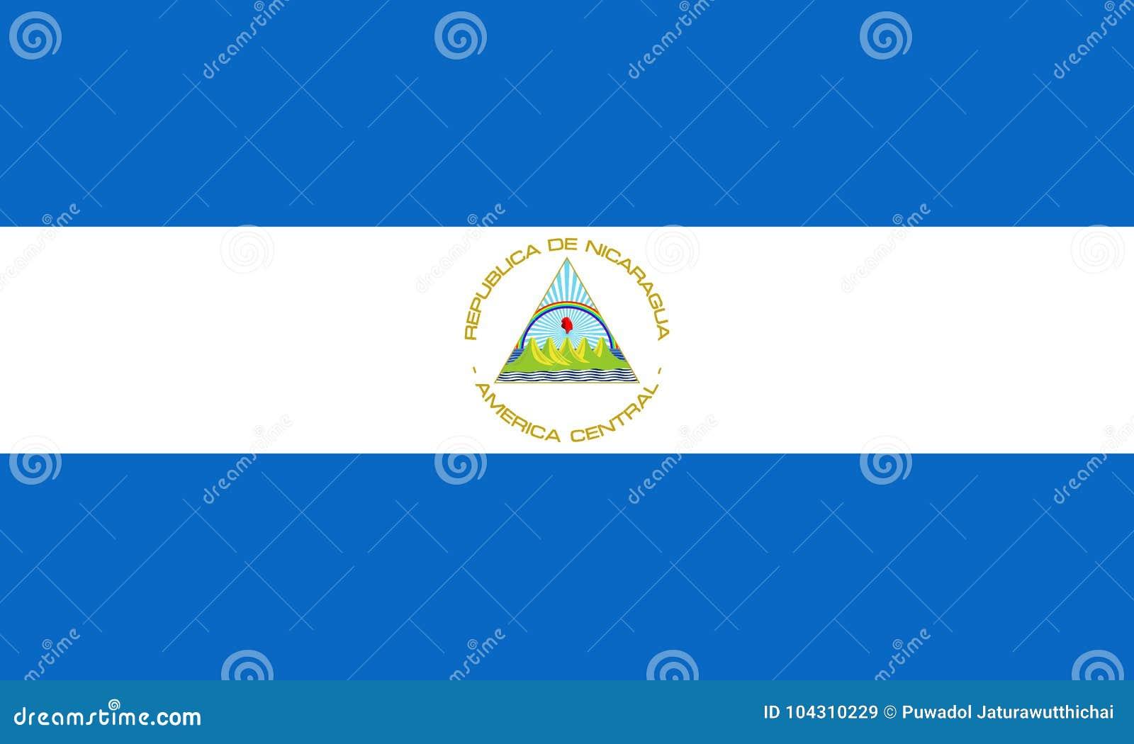 Bandiera ufficiale di vettore del Nicaragua