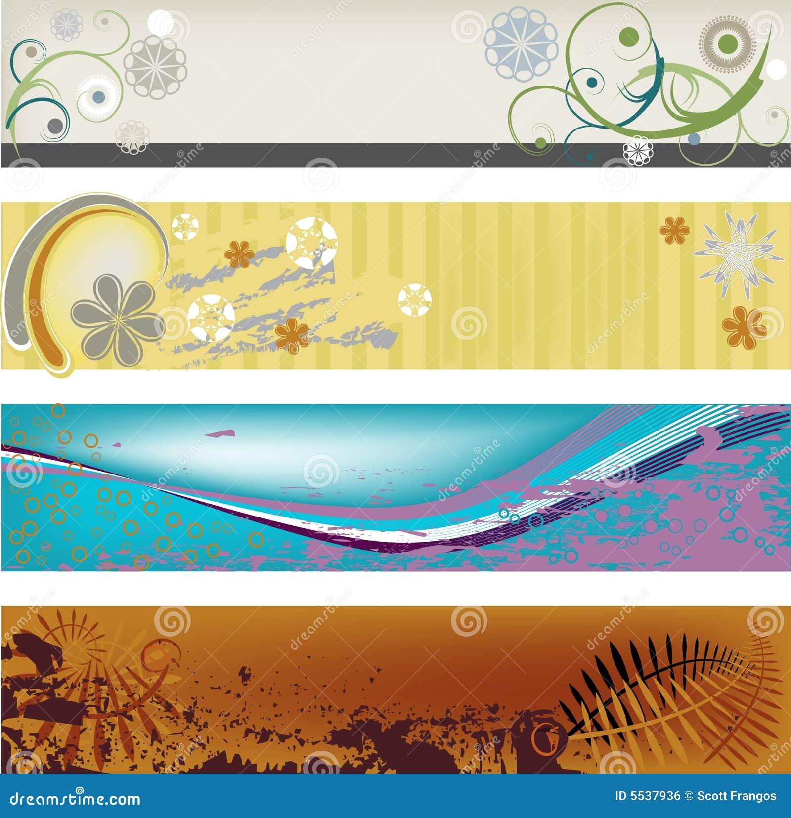 Bandiere astratte moderne illustrazione vettoriale for Immagini astratte moderne