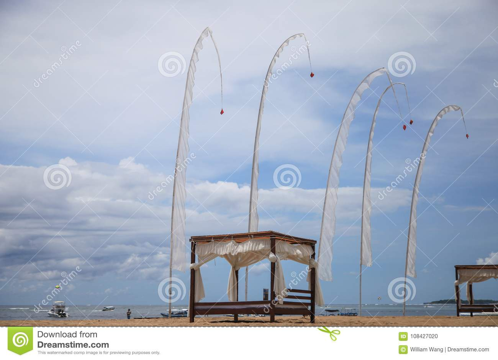 Bandiere del vento dal fondo del mare in Bali