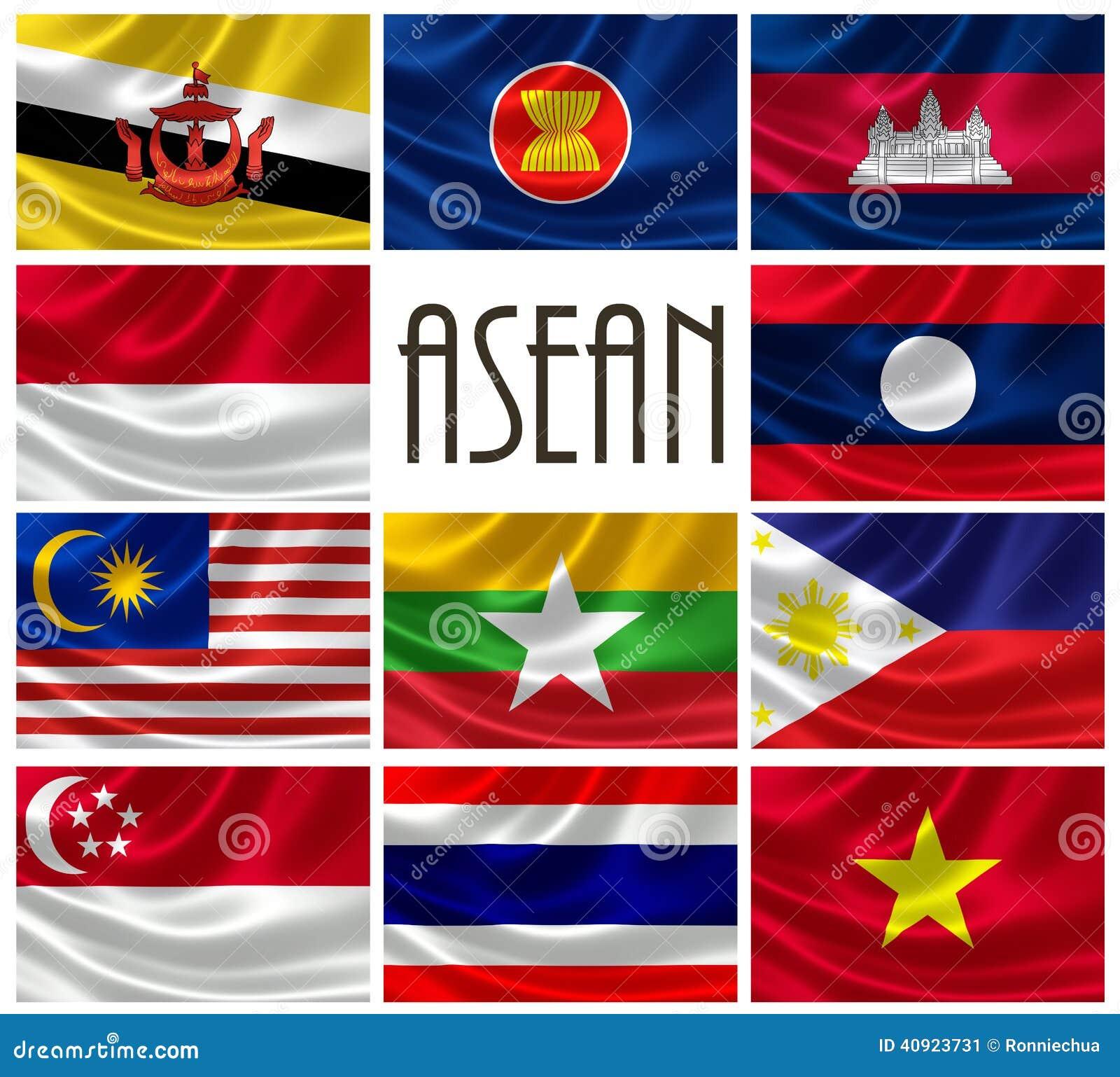 Bandiere delle nazioni di ASEAN