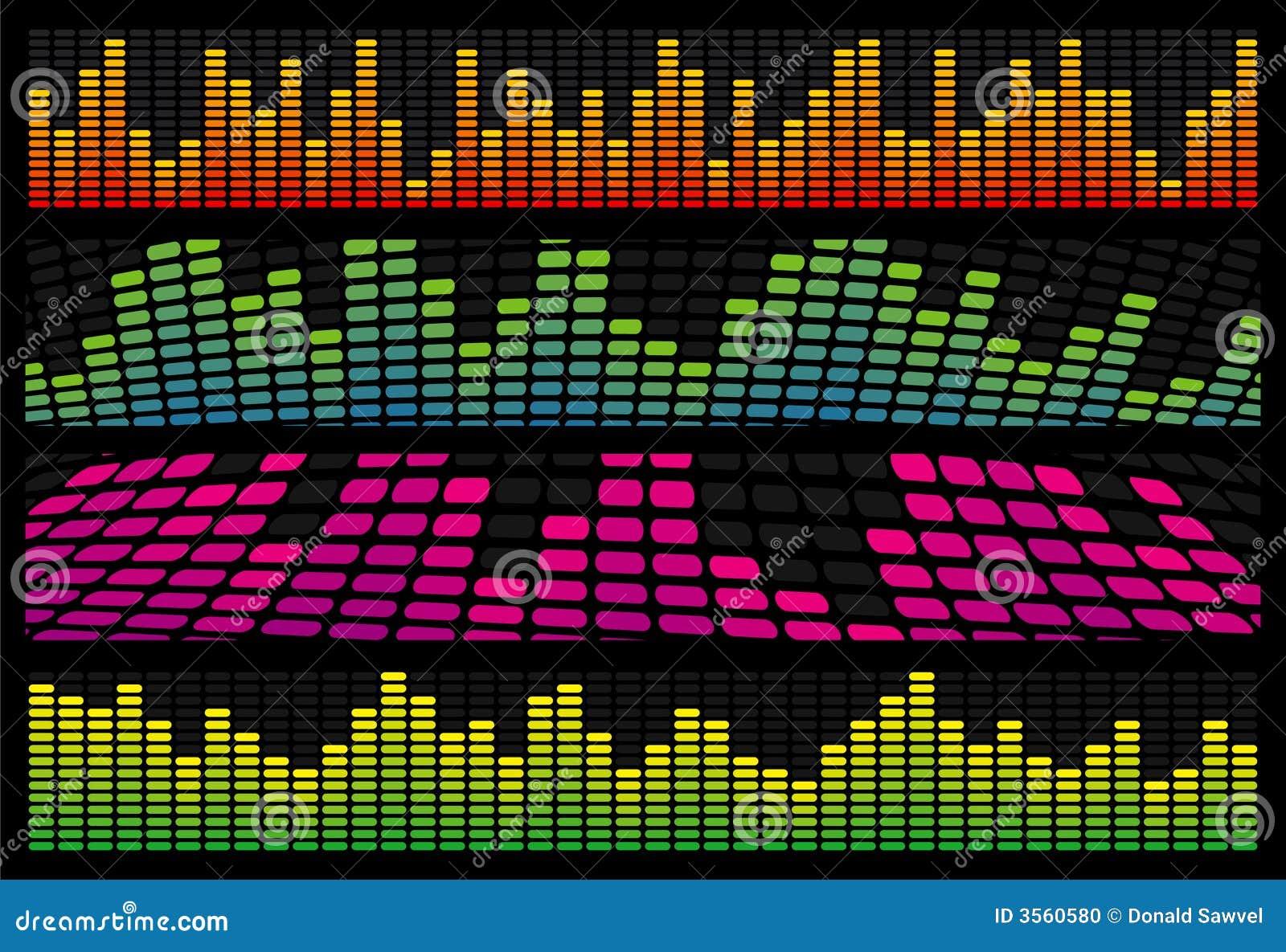 Bandiere di Web del compensatore di musica