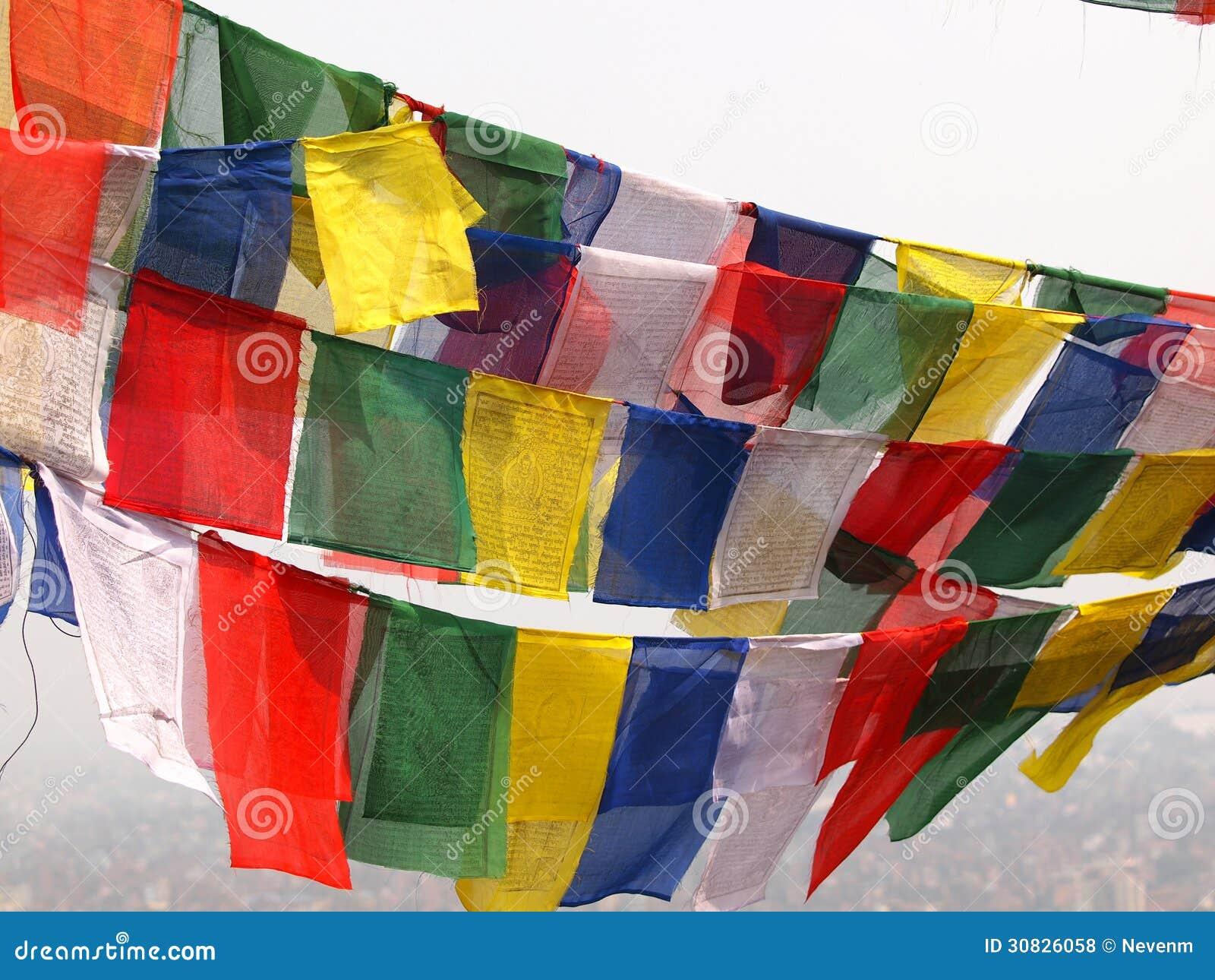 Bandiere a Kathmandu