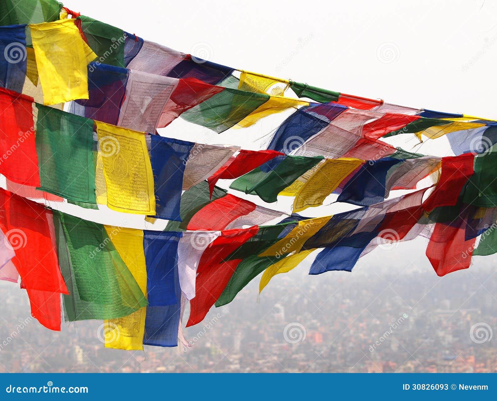 Bandiere nel Nepal