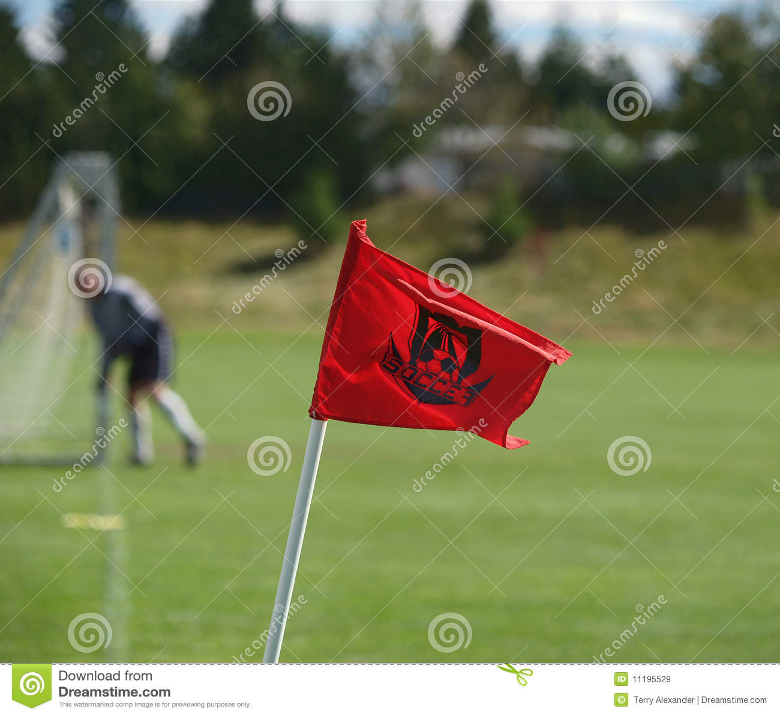 Bandierina d angolo di calcio