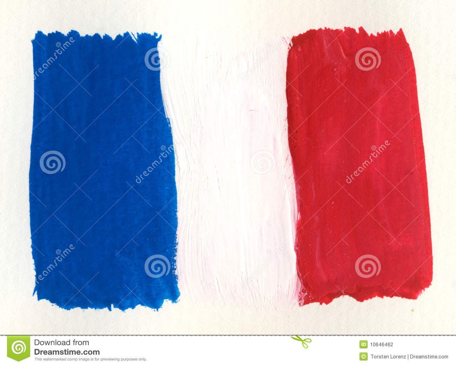 Bandierina del francese dell acquerello
