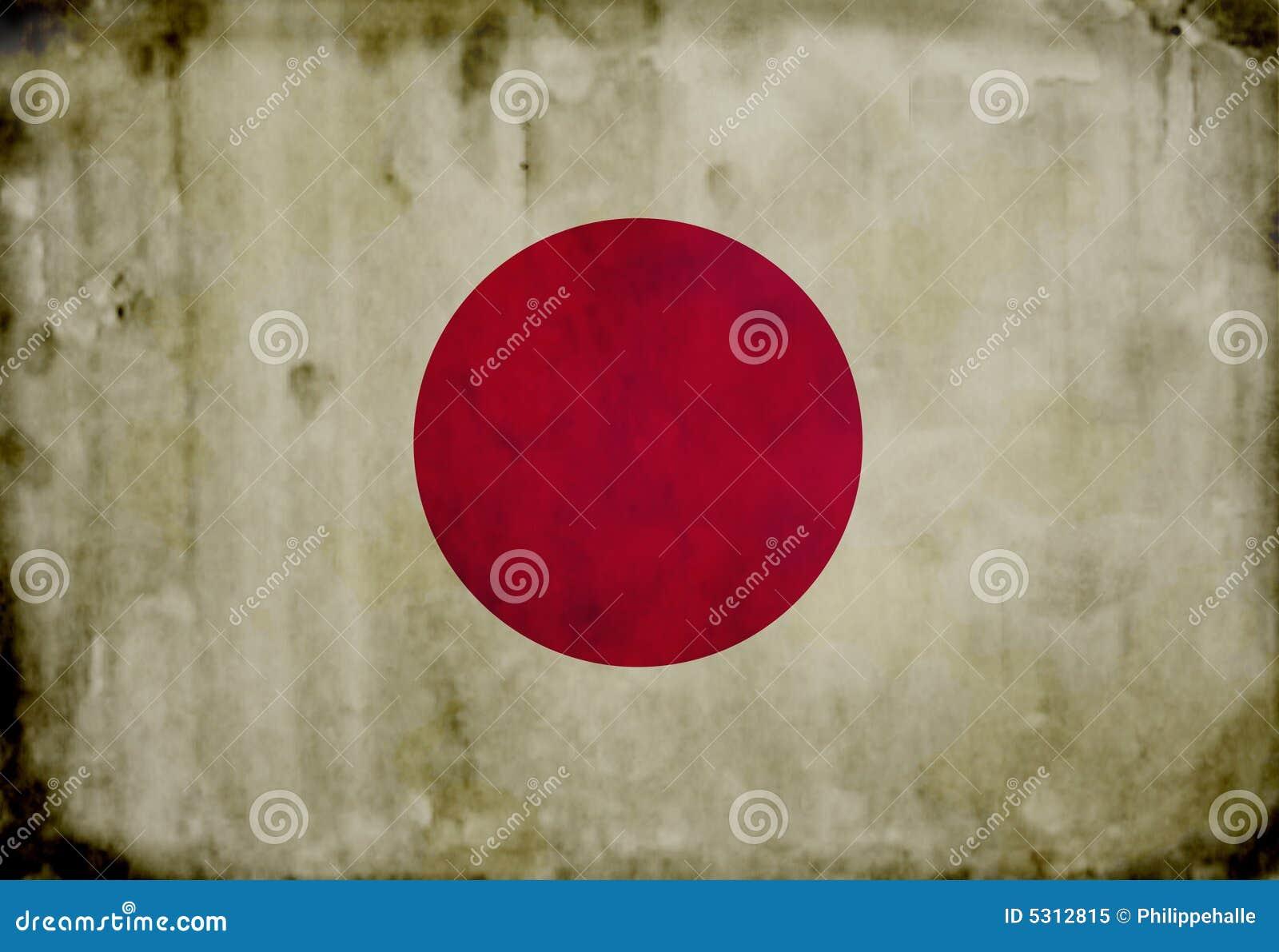 Download Bandierina Del Giapponese Di Grunge Illustrazione di Stock - Illustrazione di giapponese, asia: 5312815