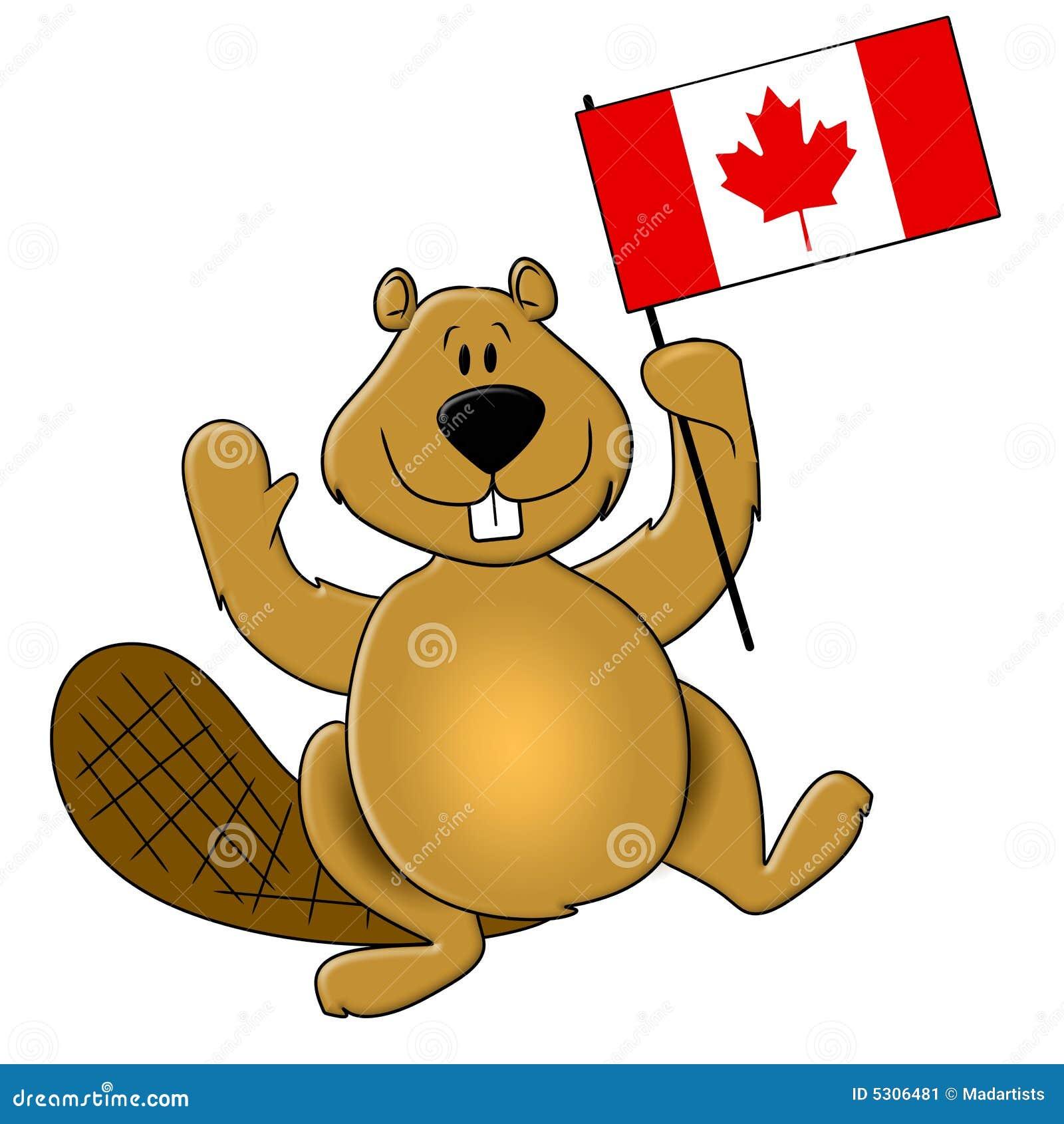 Download Bandierina Della Holding Del Castoro Di Giorno Del Canada Illustrazione di Stock - Illustrazione di fumetto, fumetti: 5306481
