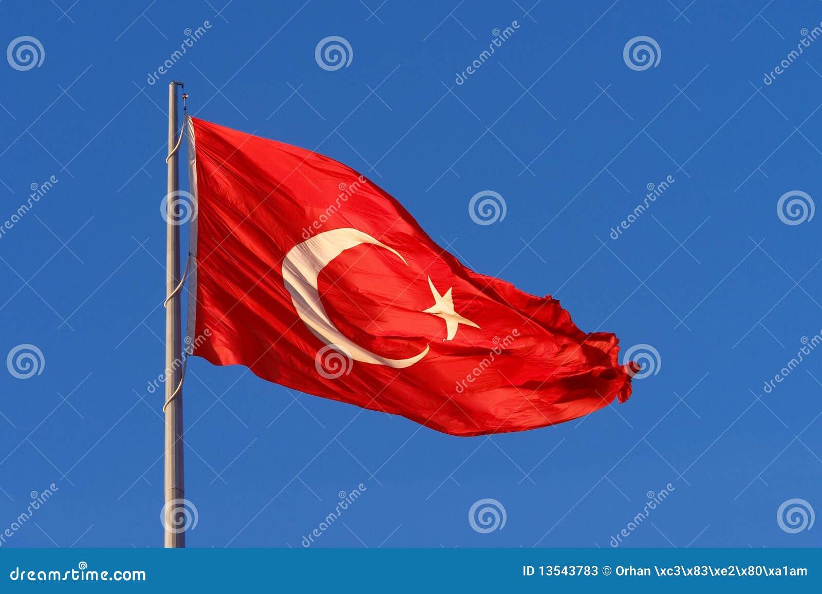 Bandierina della Turchia sul flagpole
