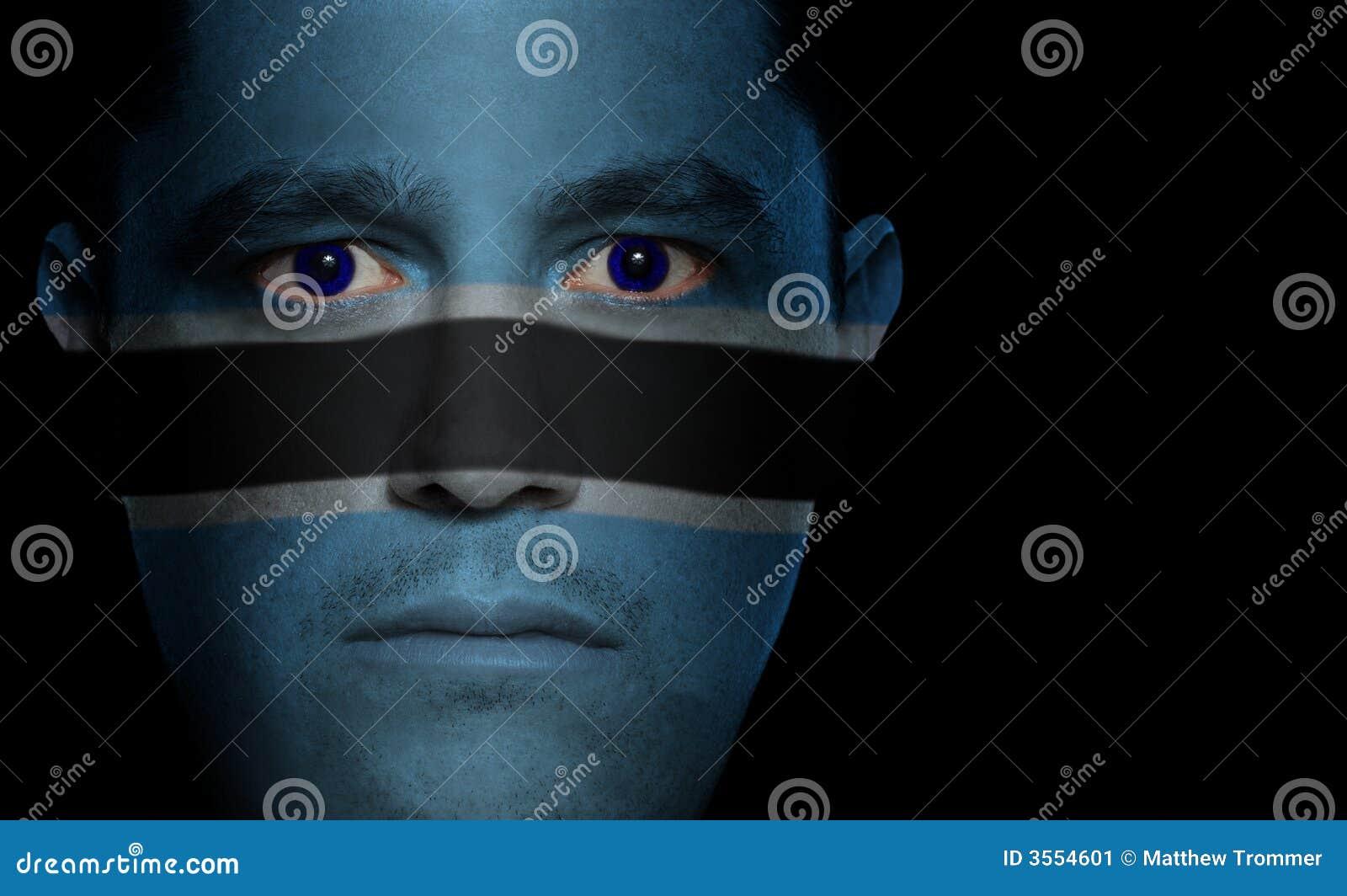Bandierina di Botswanan - fronte maschio