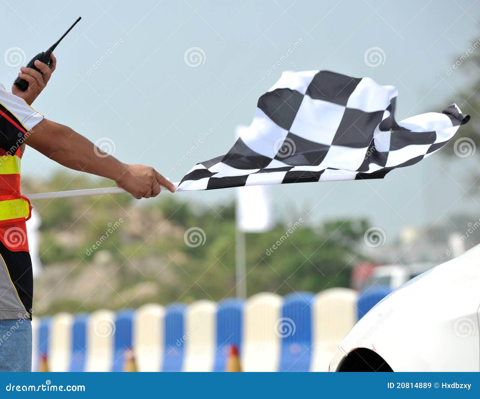Bandierina di corsa Checkered