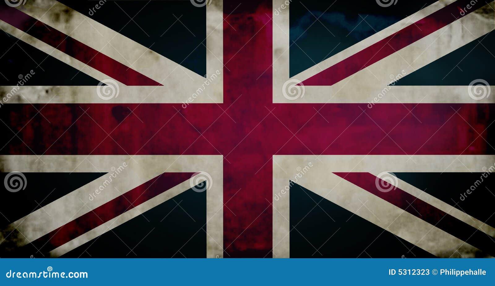 Download Bandierina Di Grunge Britannici Illustrazione di Stock - Illustrazione di bianco, britain: 5312323