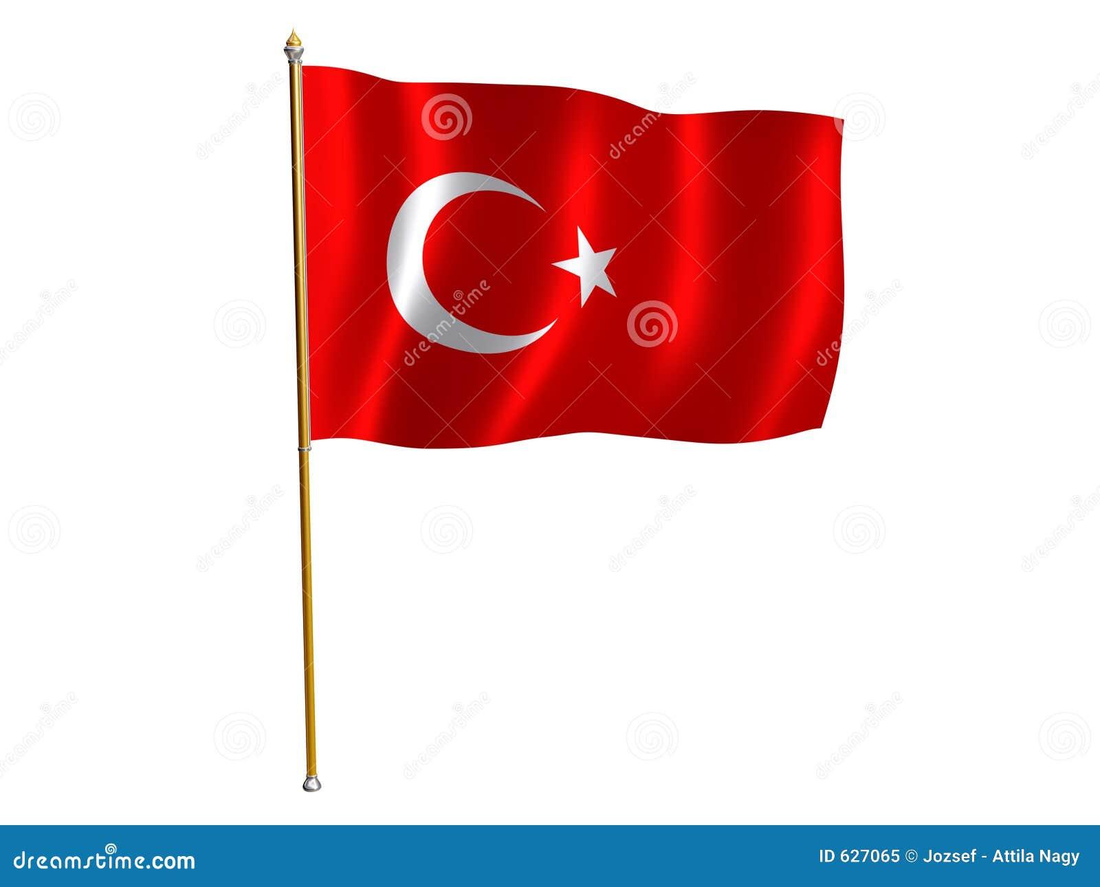 Bandierina di seta turca