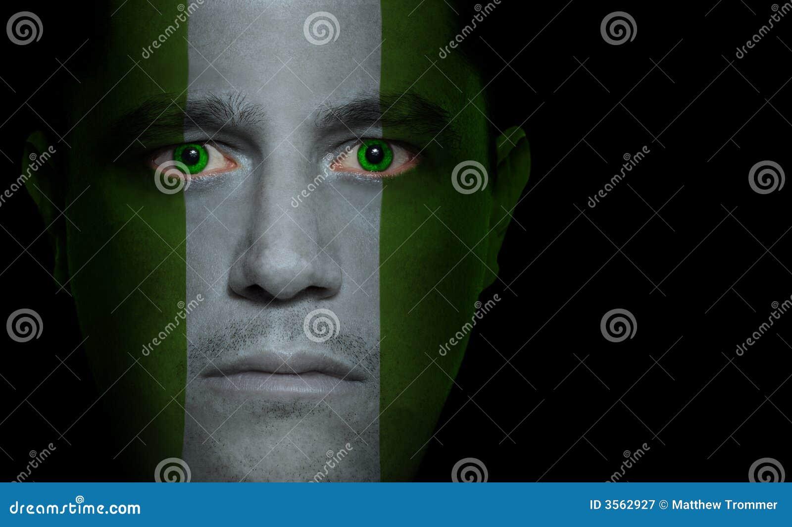 Bandierina nigeriana - fronte maschio