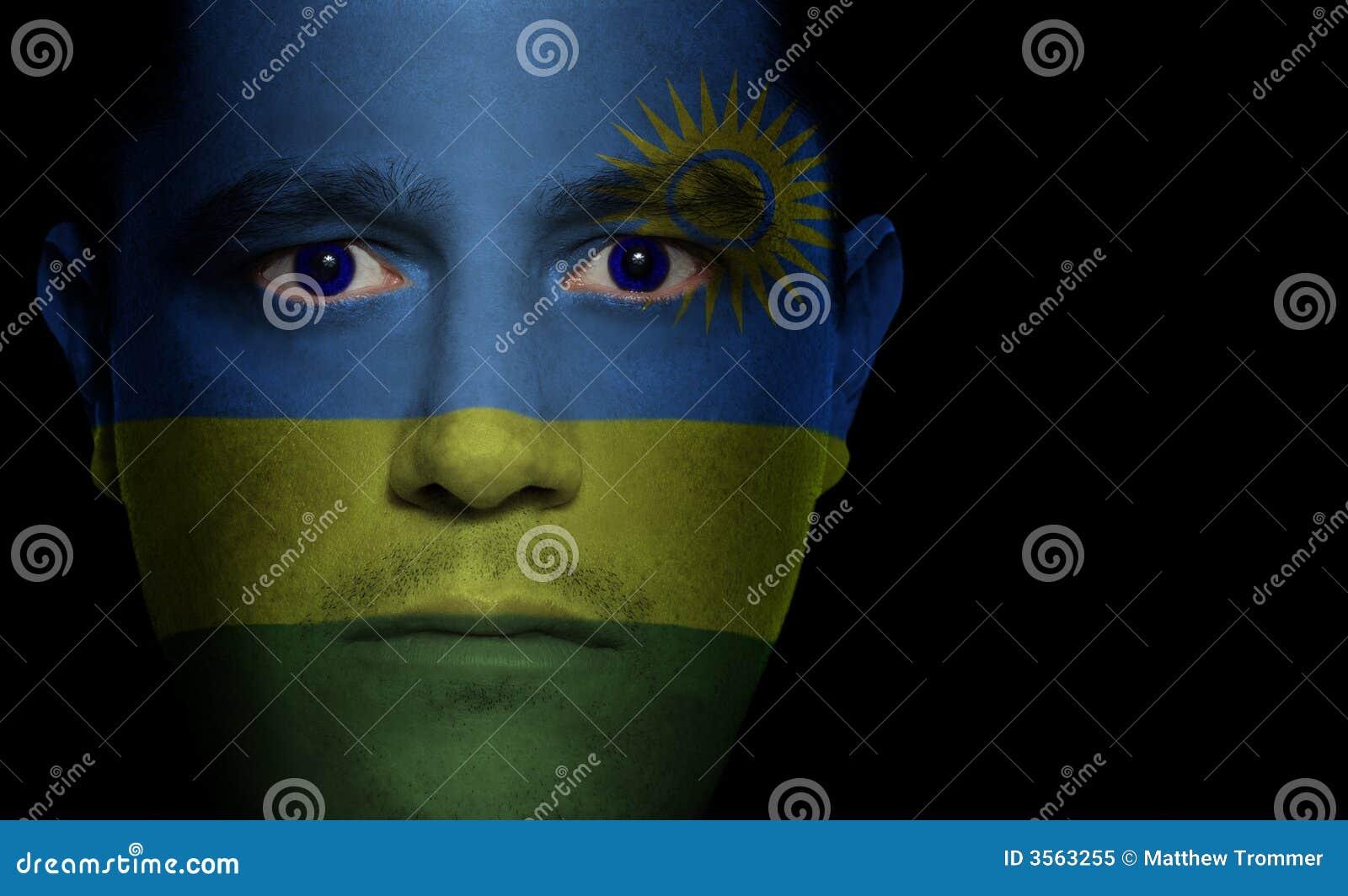 Bandierina ruandese - fronte maschio