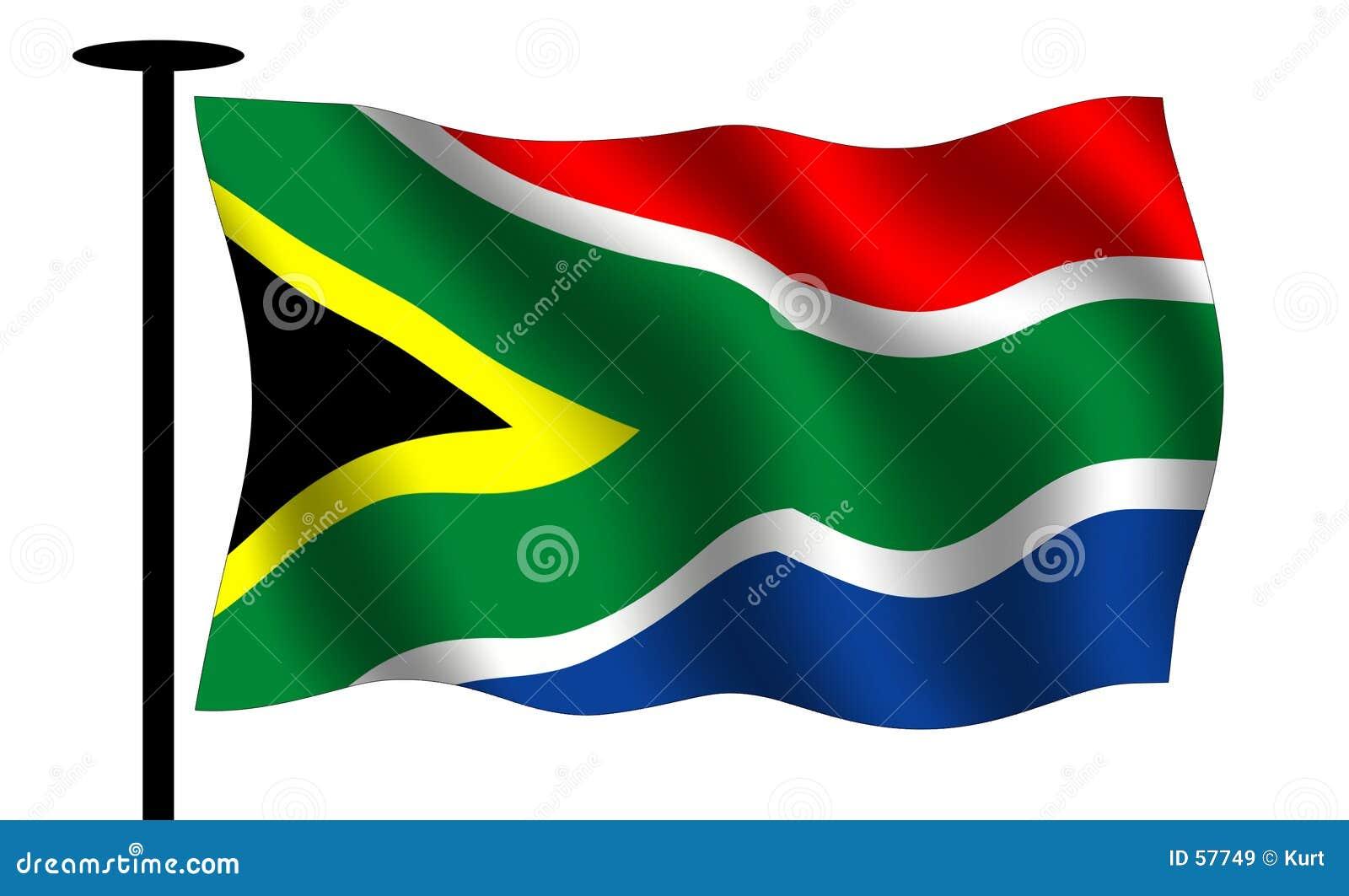 Bandierina sudafricana d ondeggiamento